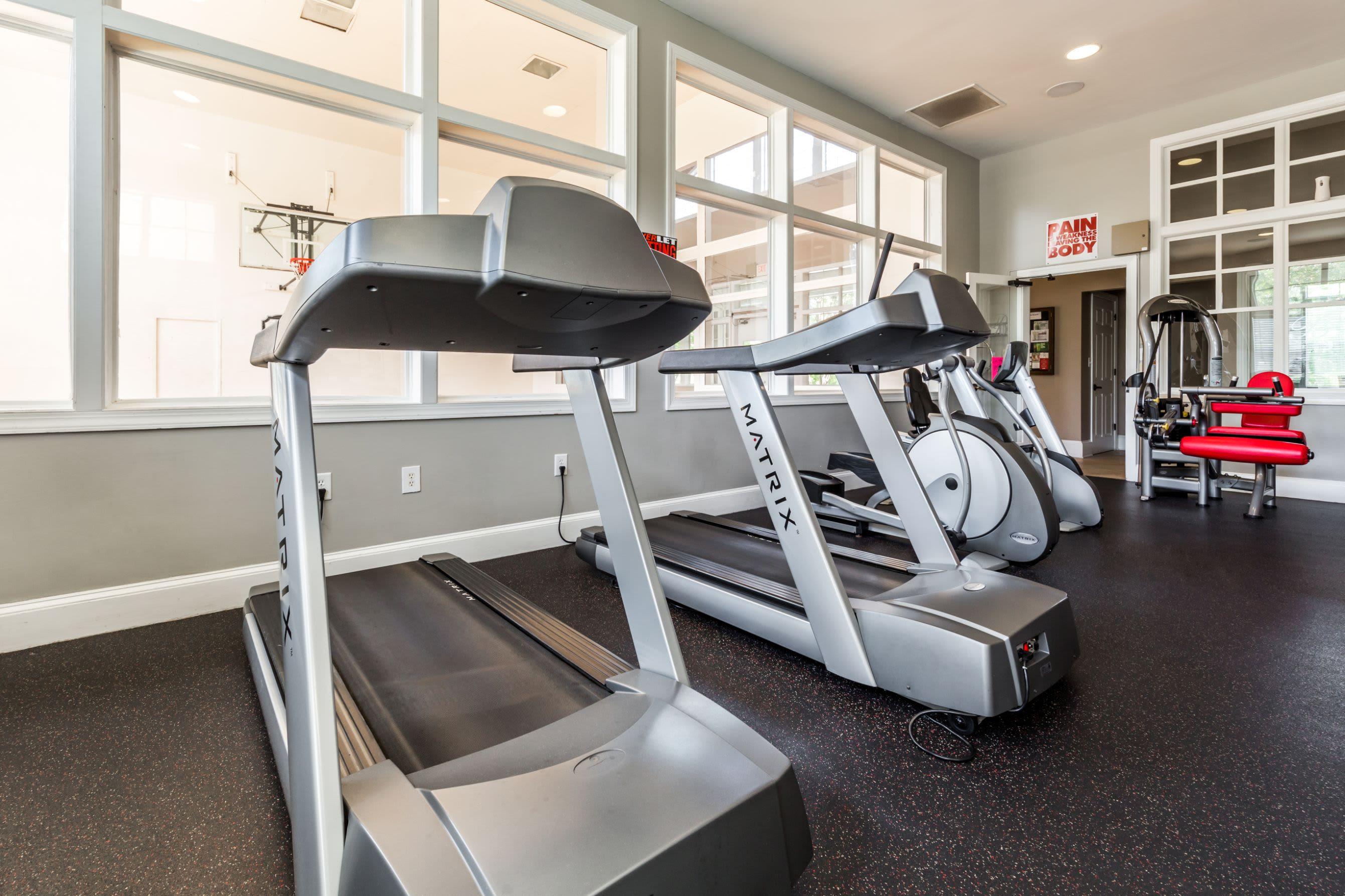 Treadmills at The Preserve at Ballantyne Commons in Charlotte, North Carolina