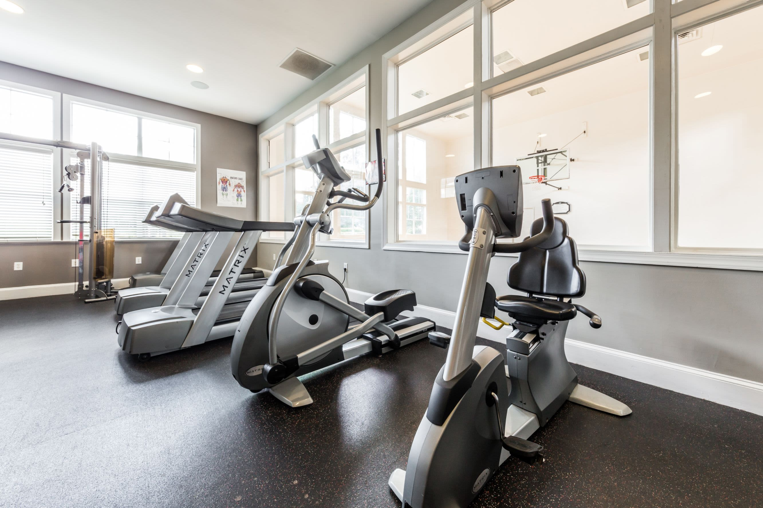 Cardio machines at The Preserve at Ballantyne Commons in Charlotte, North Carolina