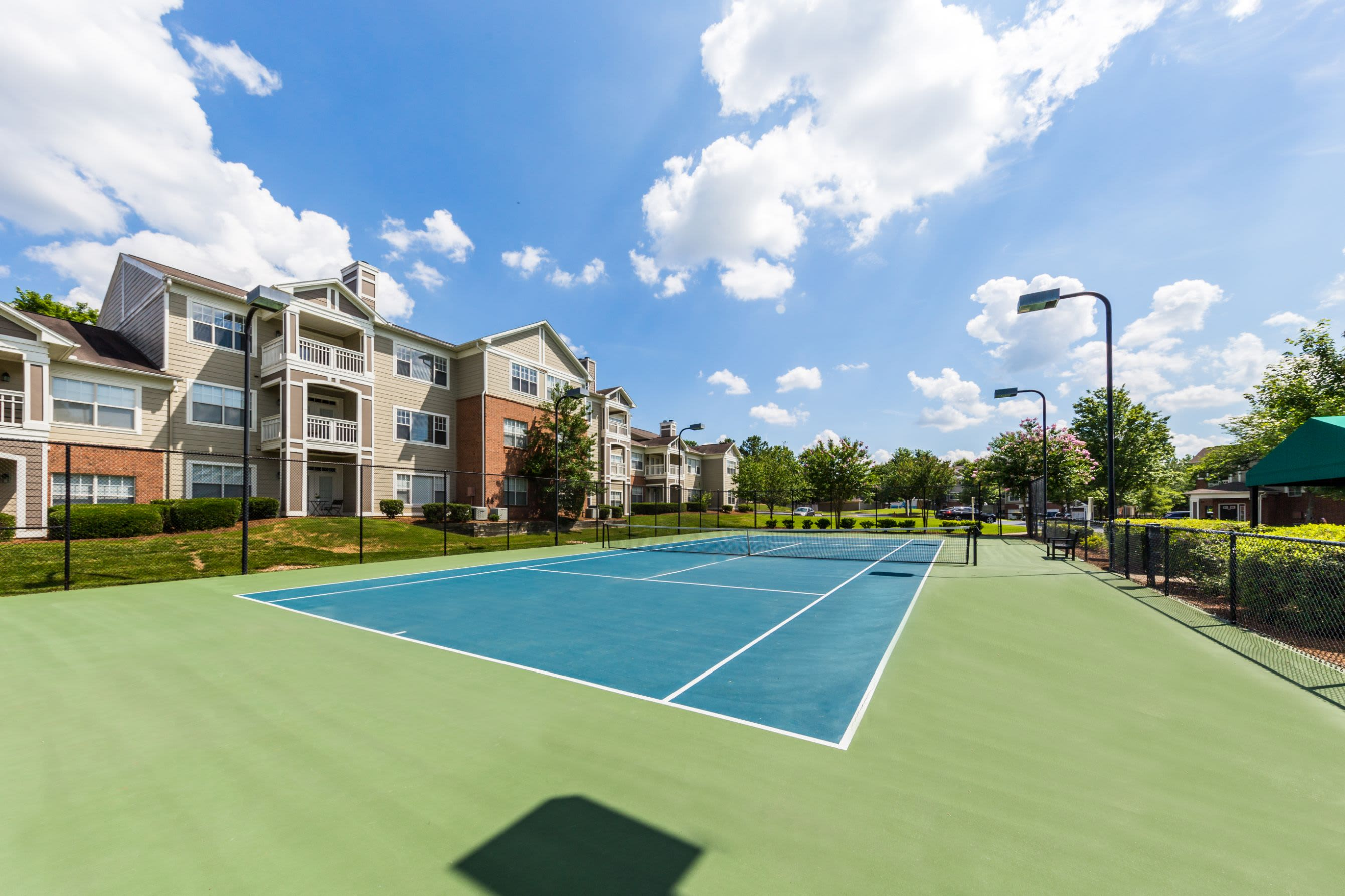 Tennis court at The Preserve at Ballantyne Commons in Charlotte, North Carolina