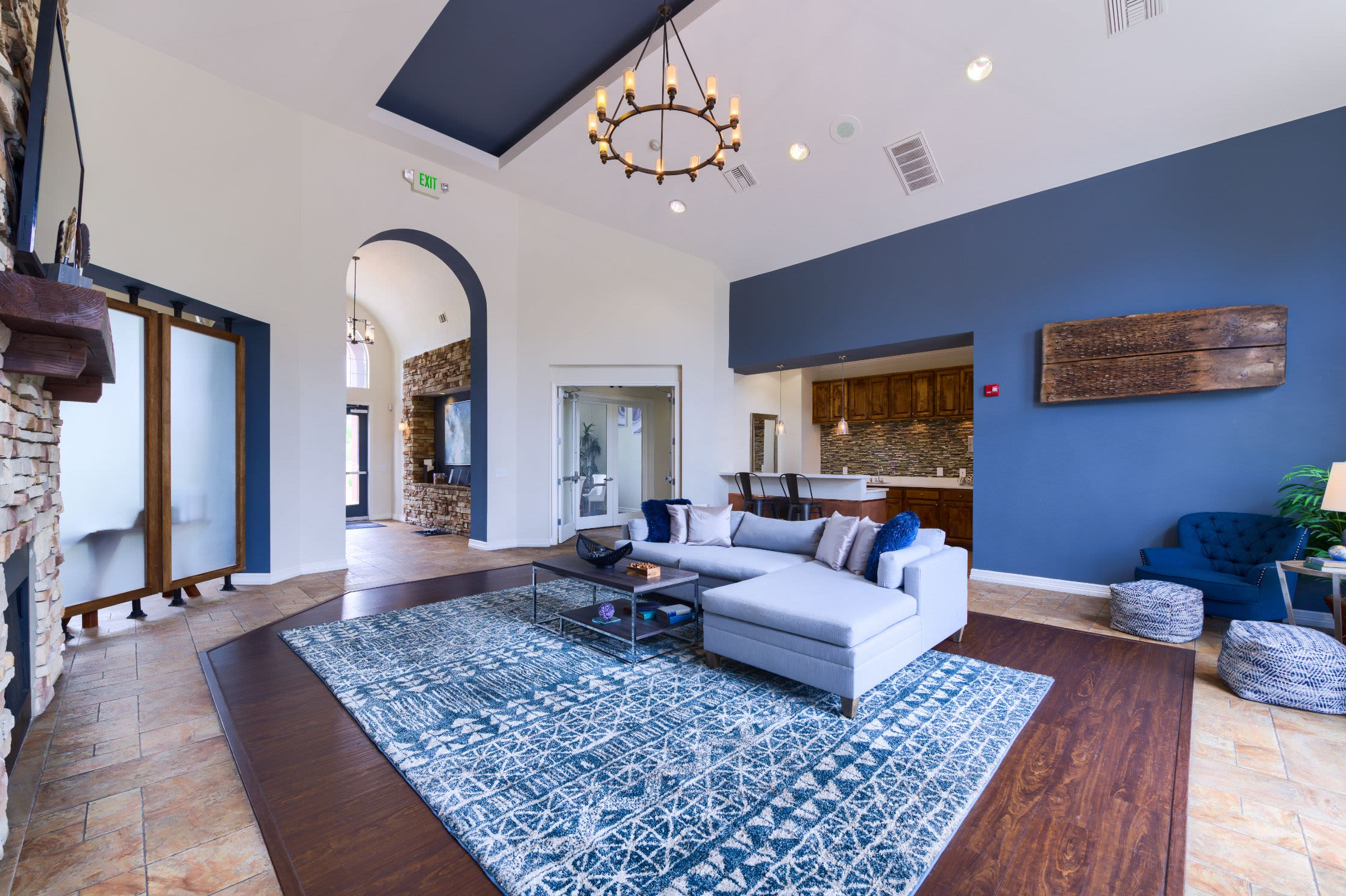 Community clubhouse at Whisper Creek Apartment Homes in Lakewood, Colorado