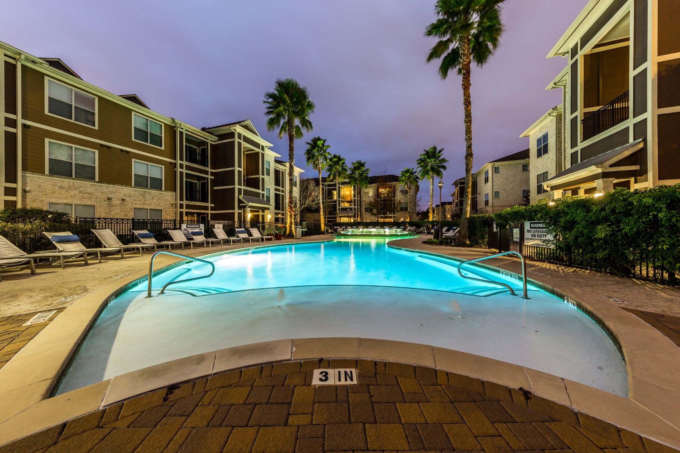 Outdoor pool at Marquis at The Woodlands in Spring Texas,