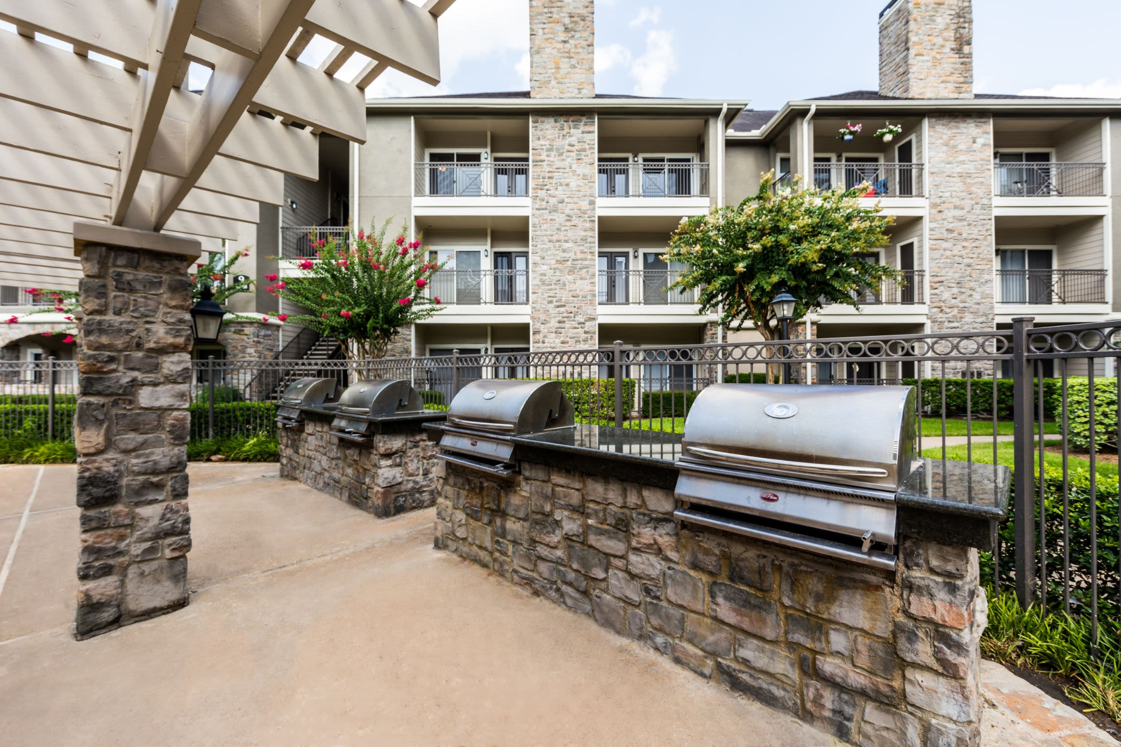 Outdoor grills for reidents at Marquis on Westheimer in Houston, Texas