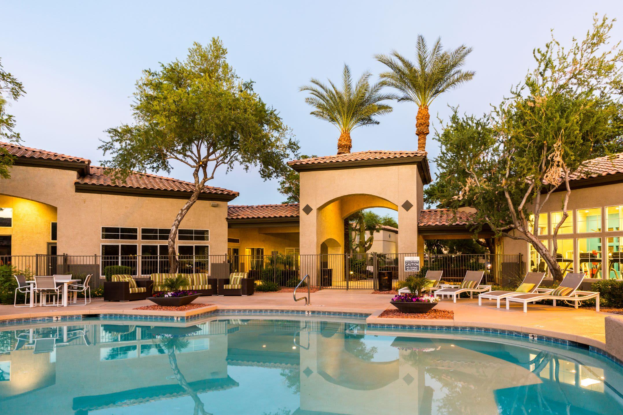 Sparkling pool at Marquis at Arrowhead in Peoria, Arizona