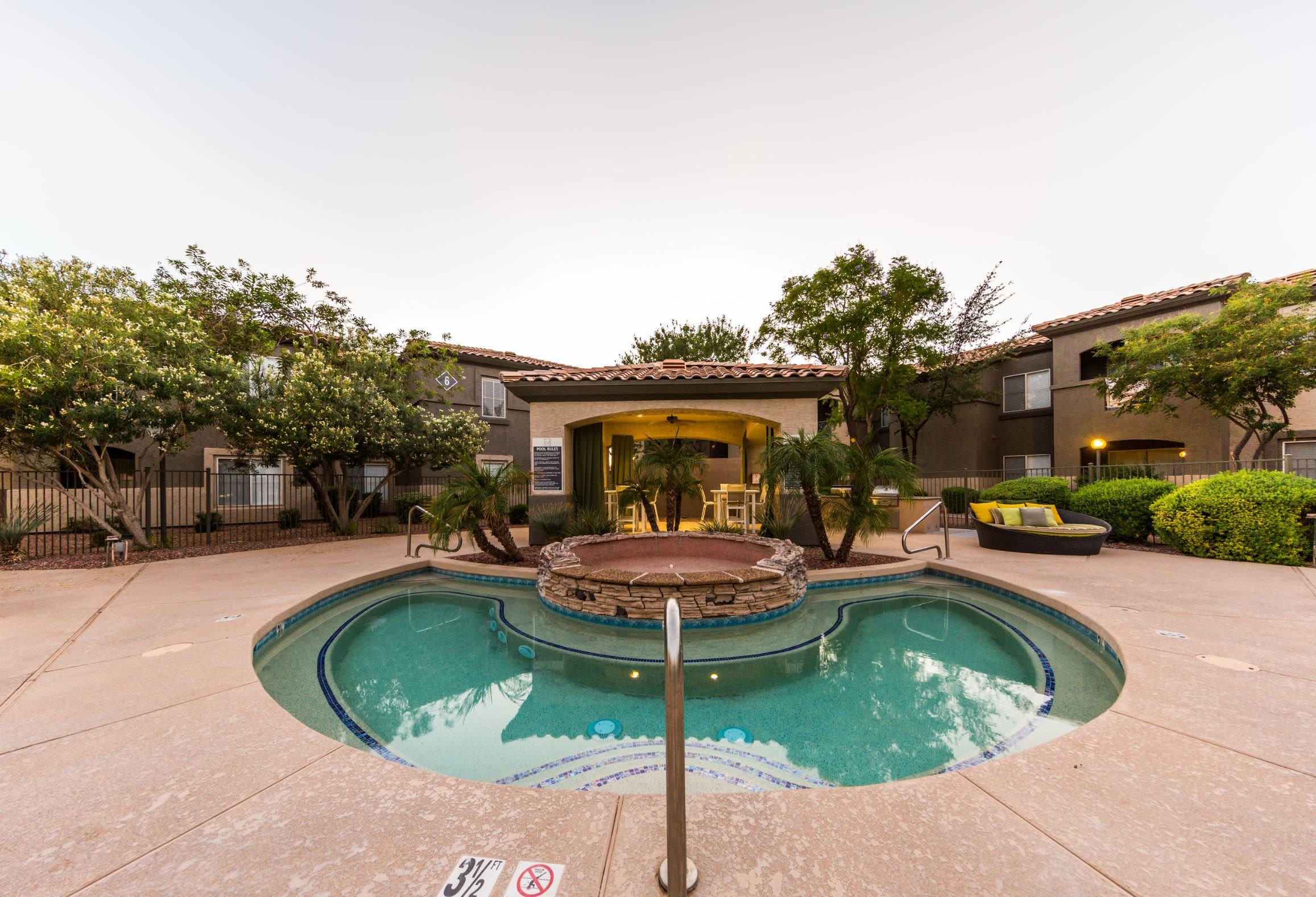 Outdoor spa at Marquis at Arrowhead in Peoria, Arizona