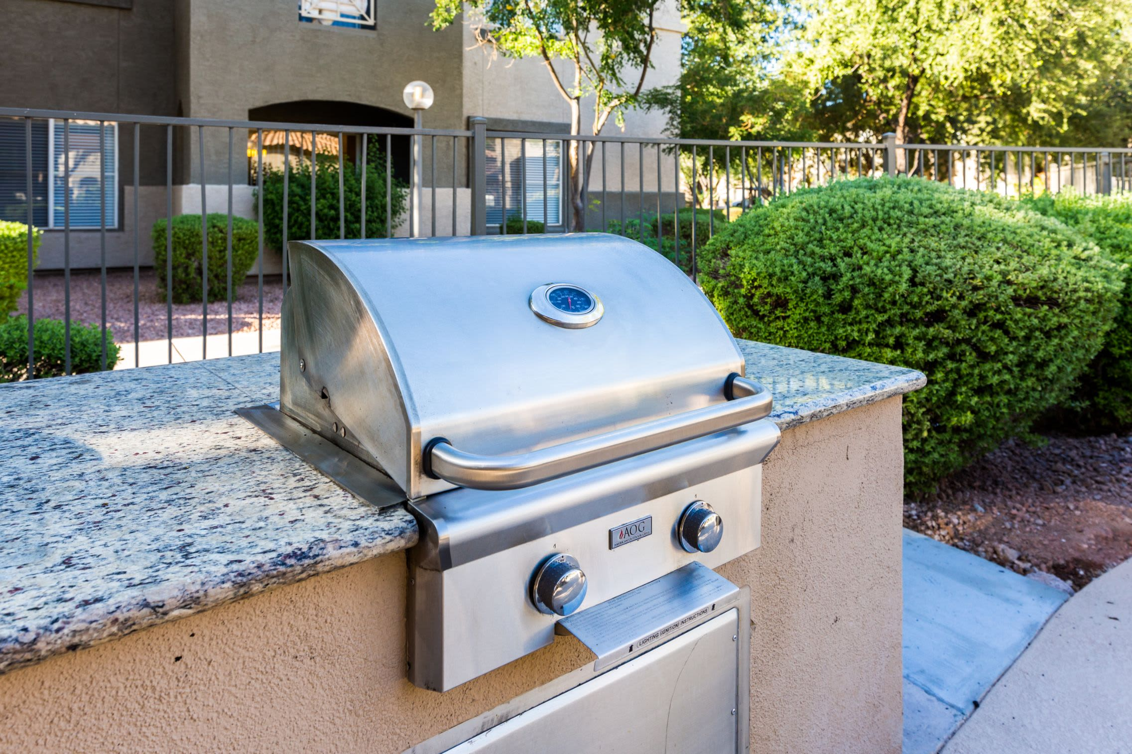 Outdoor grill at Marquis at Arrowhead in Peoria, Arizona