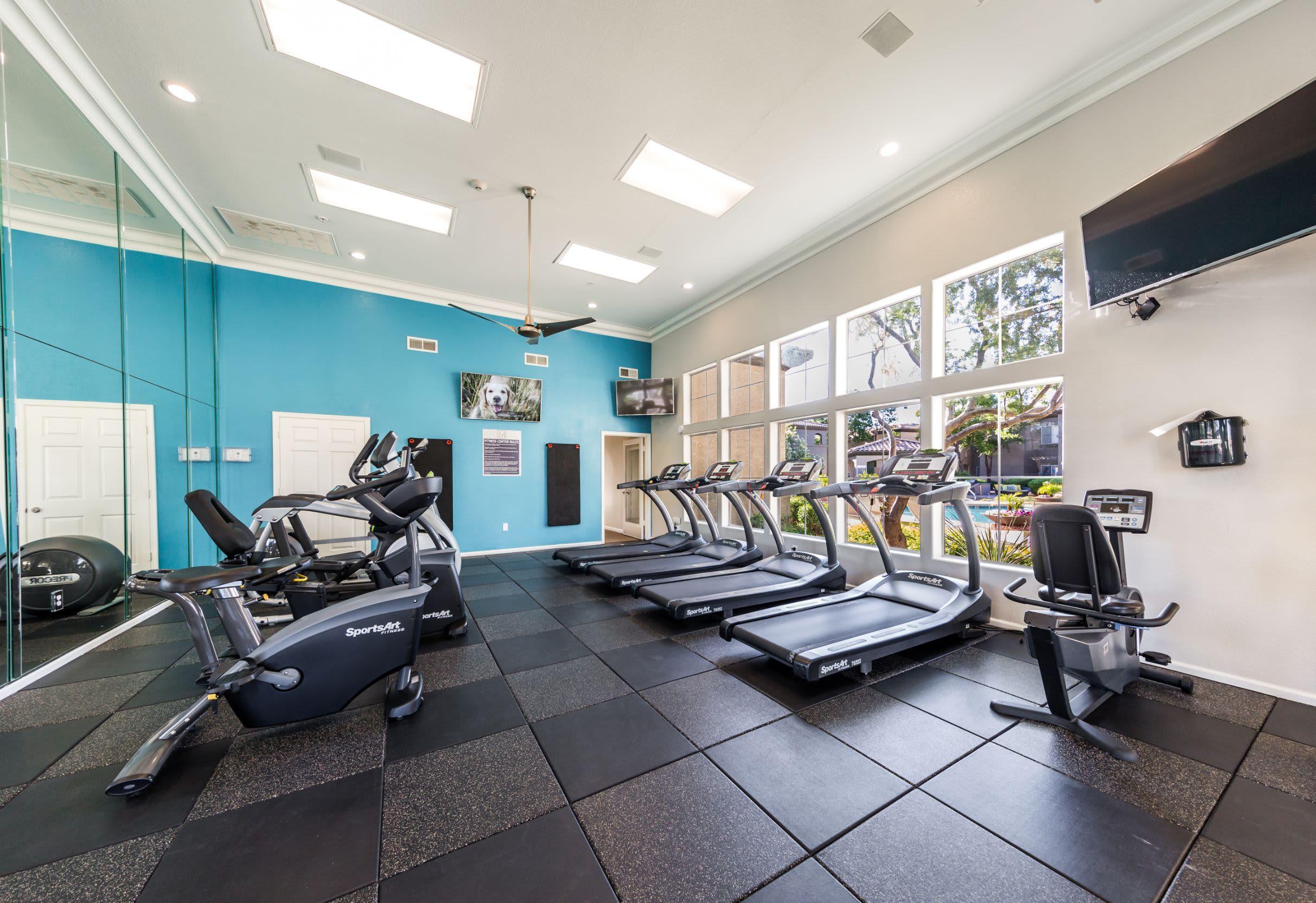 Cardio machines in fitness center at Marquis at Arrowhead in Peoria, Arizona