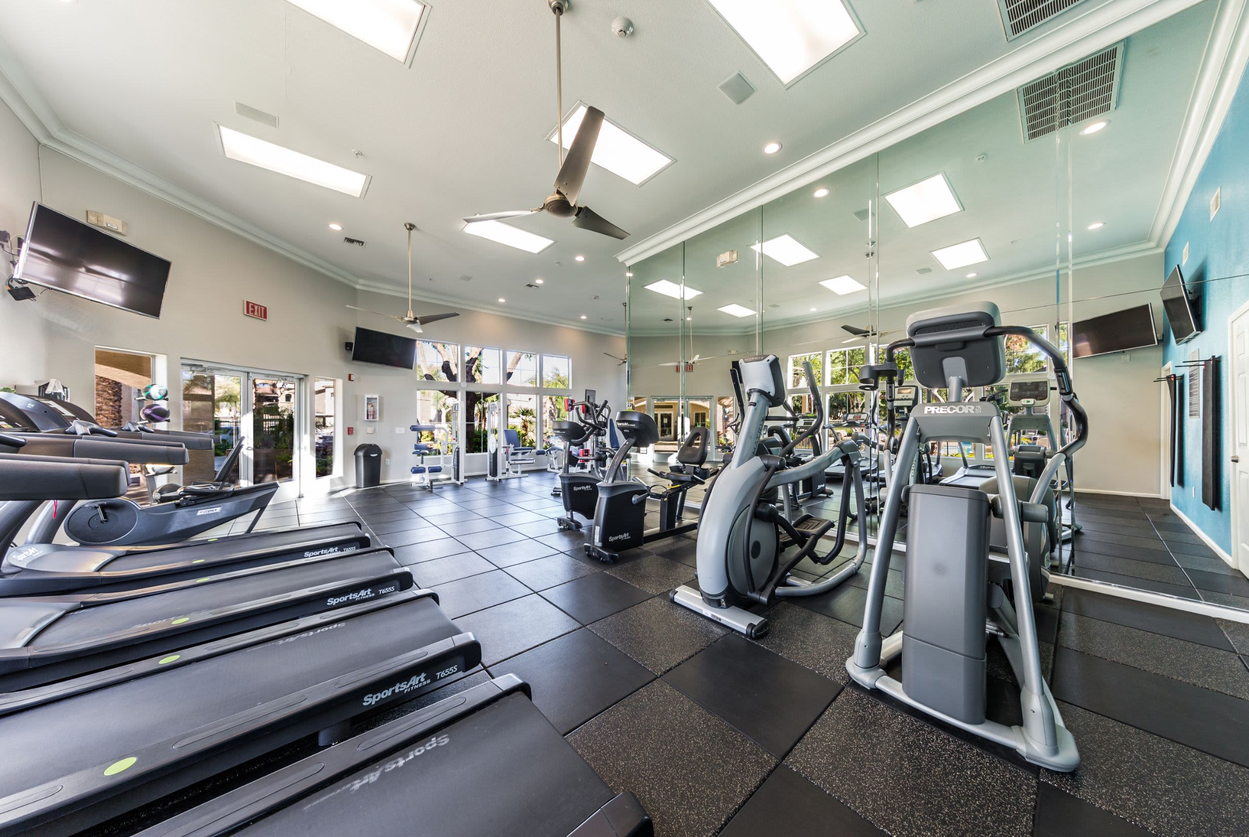 Fitness center with cardio machines at Marquis at Arrowhead in Peoria, Arizona