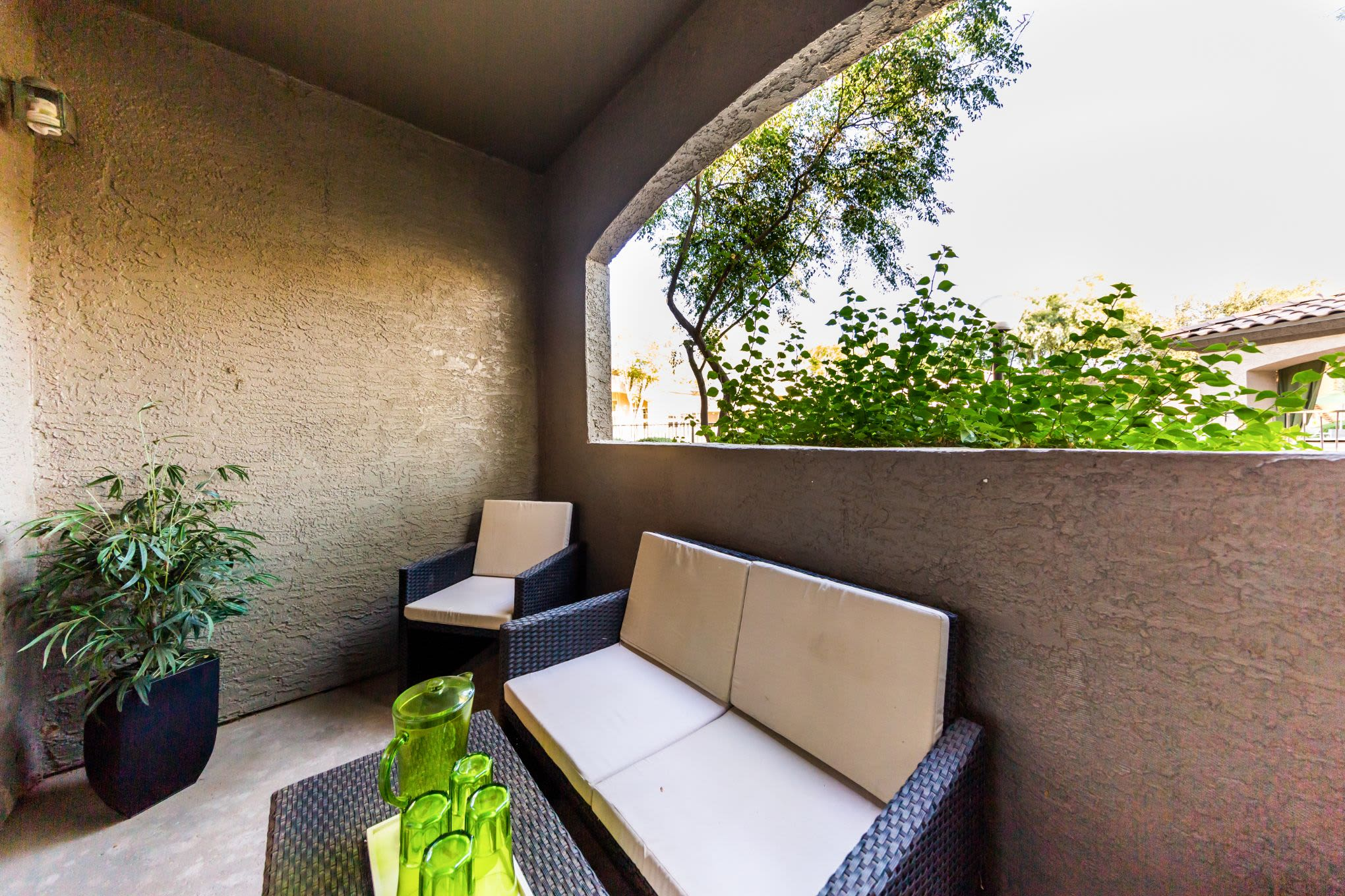 Private patio at Marquis at Arrowhead in Peoria, Arizona
