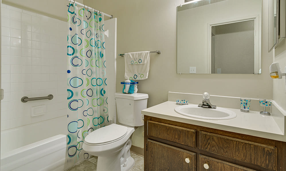 Bathroom at Autumn Woods Apartments & Townhomes in Jackson, Michigan