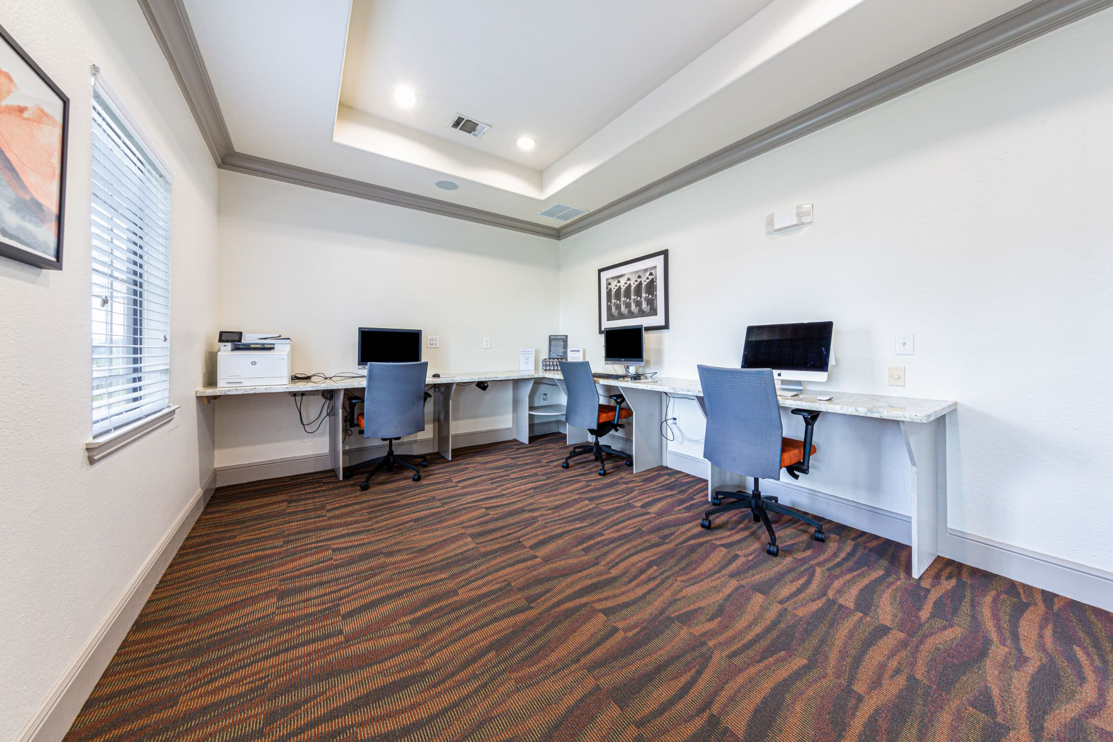Business center at Marquis Grand Lakes in Richmond, Texas
