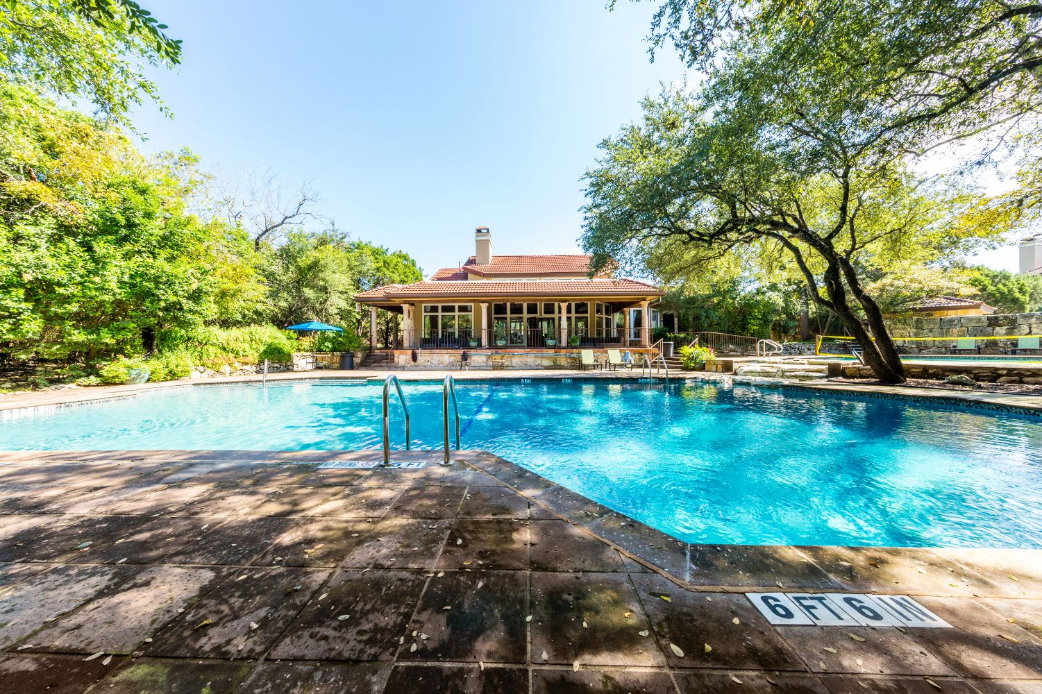 Sparkling pool at Marquis at Caprock Canyon in Austin, Texas
