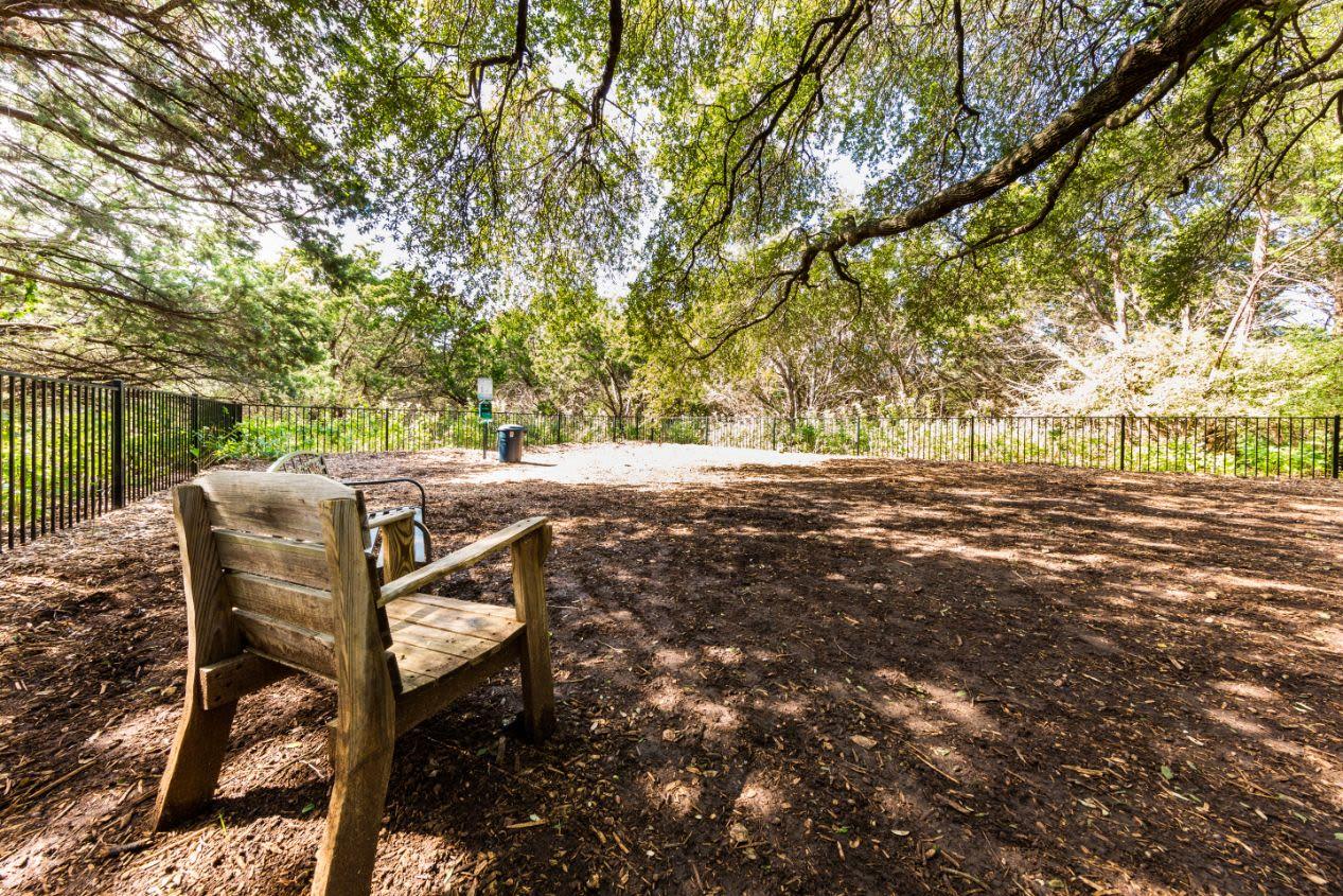 Dog park at Marquis at Caprock Canyon in Austin, Texas
