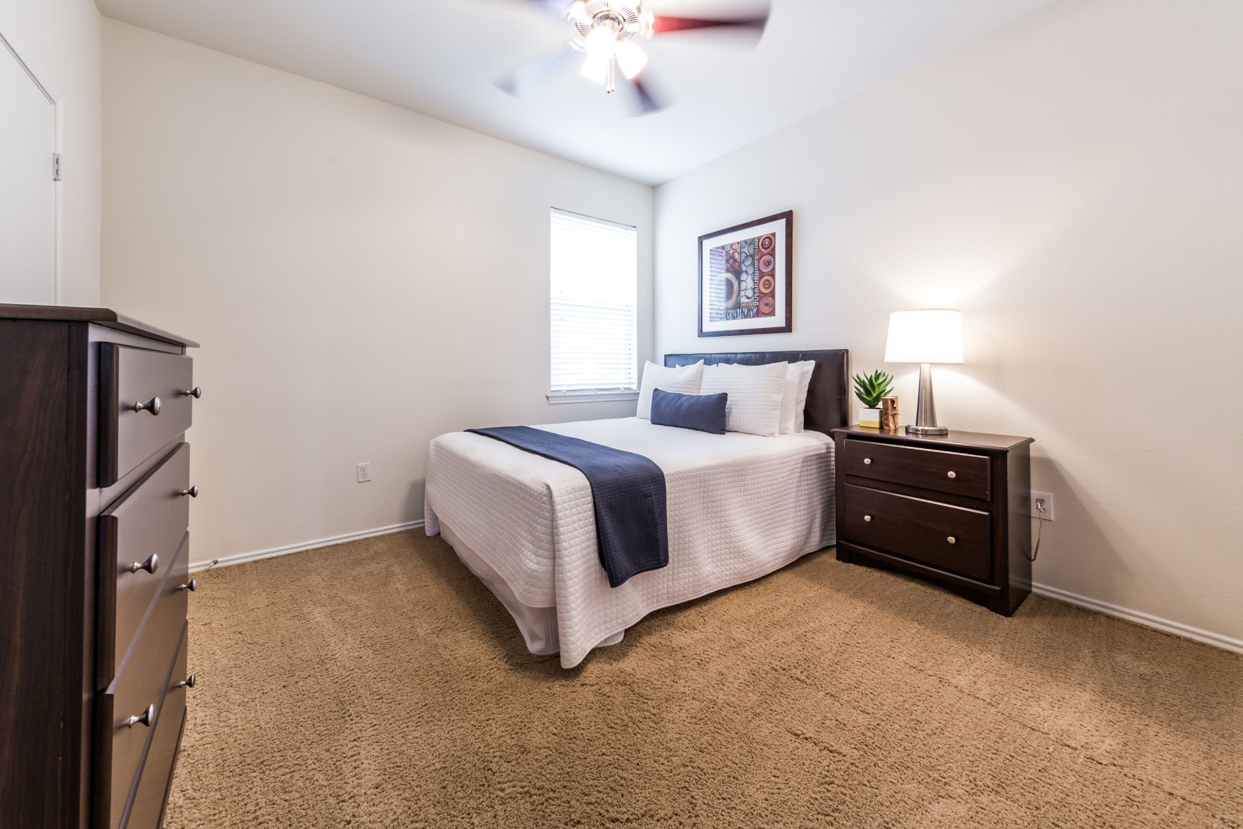 Large bedroom at Marquis at Caprock Canyon in Austin, Texas