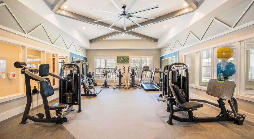 Full state of the art fitness area for residents at The Isaac in Summerville, South Carolina