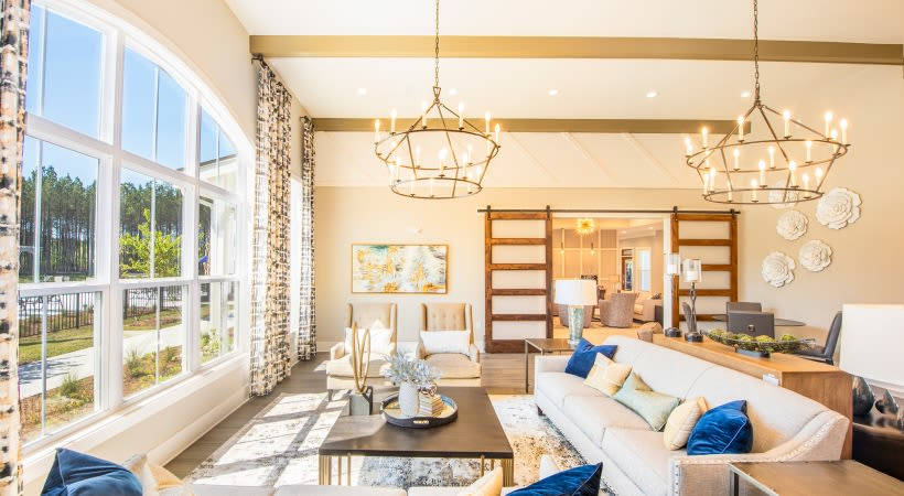 Spacious living room at The Isaac in Summerville, South Carolina