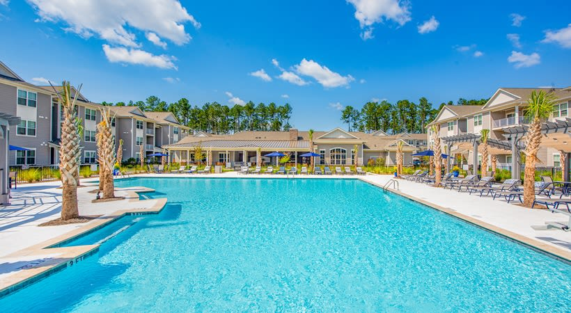 Massive pool at The Isaac in Summerville, South Carolina