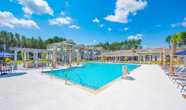 Poolside view at The Isaac in Summerville, South Carolina