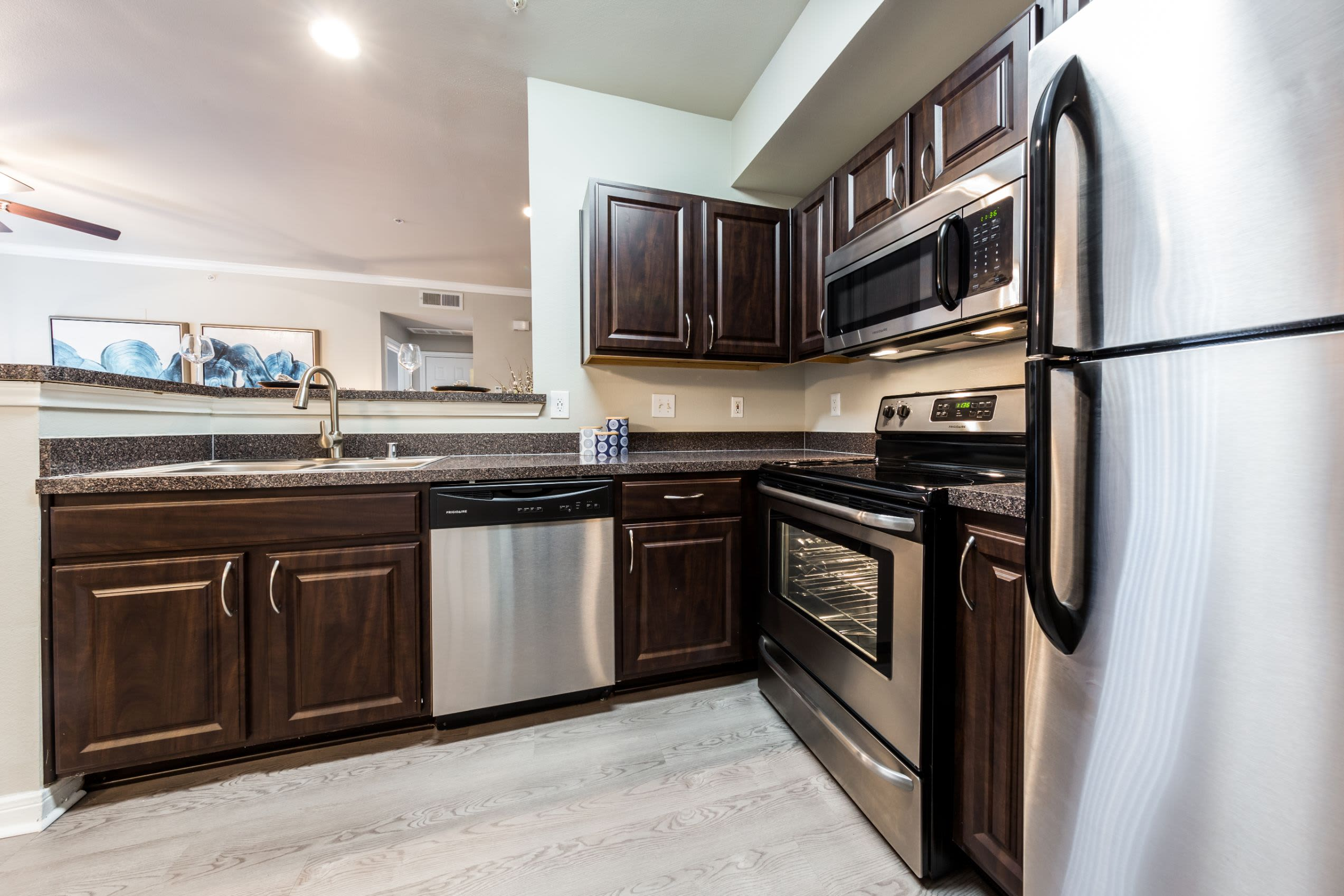 Modern kitchen at Brooks on Preston in Plano, Texas
