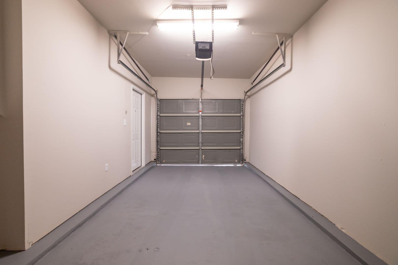 Garage interior at Marquis at Stonebriar in Frisco, Texas