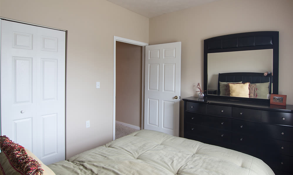 Bedroom at Avalon at Northbrook Apartments & Townhomes in Fort Wayne, Indiana