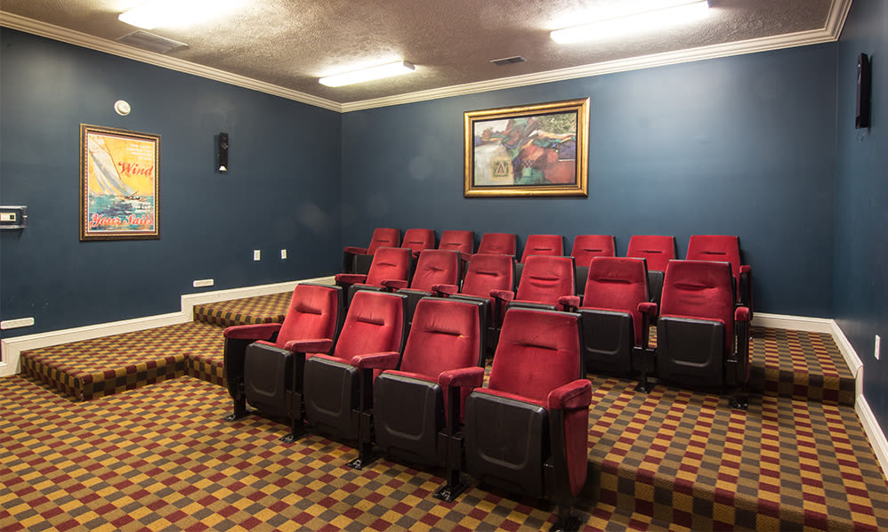 Movie theater room at Avalon at Northbrook Apartments & Townhomes in Fort Wayne, Indiana