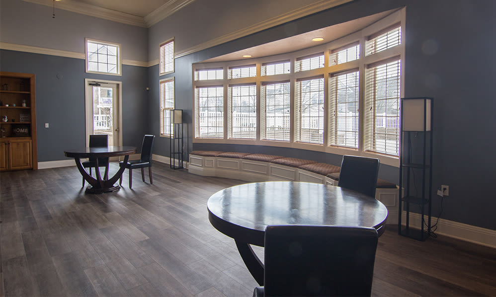 Spacious clubhouse at Avalon at Northbrook Apartments & Townhomes in Fort Wayne, Indiana