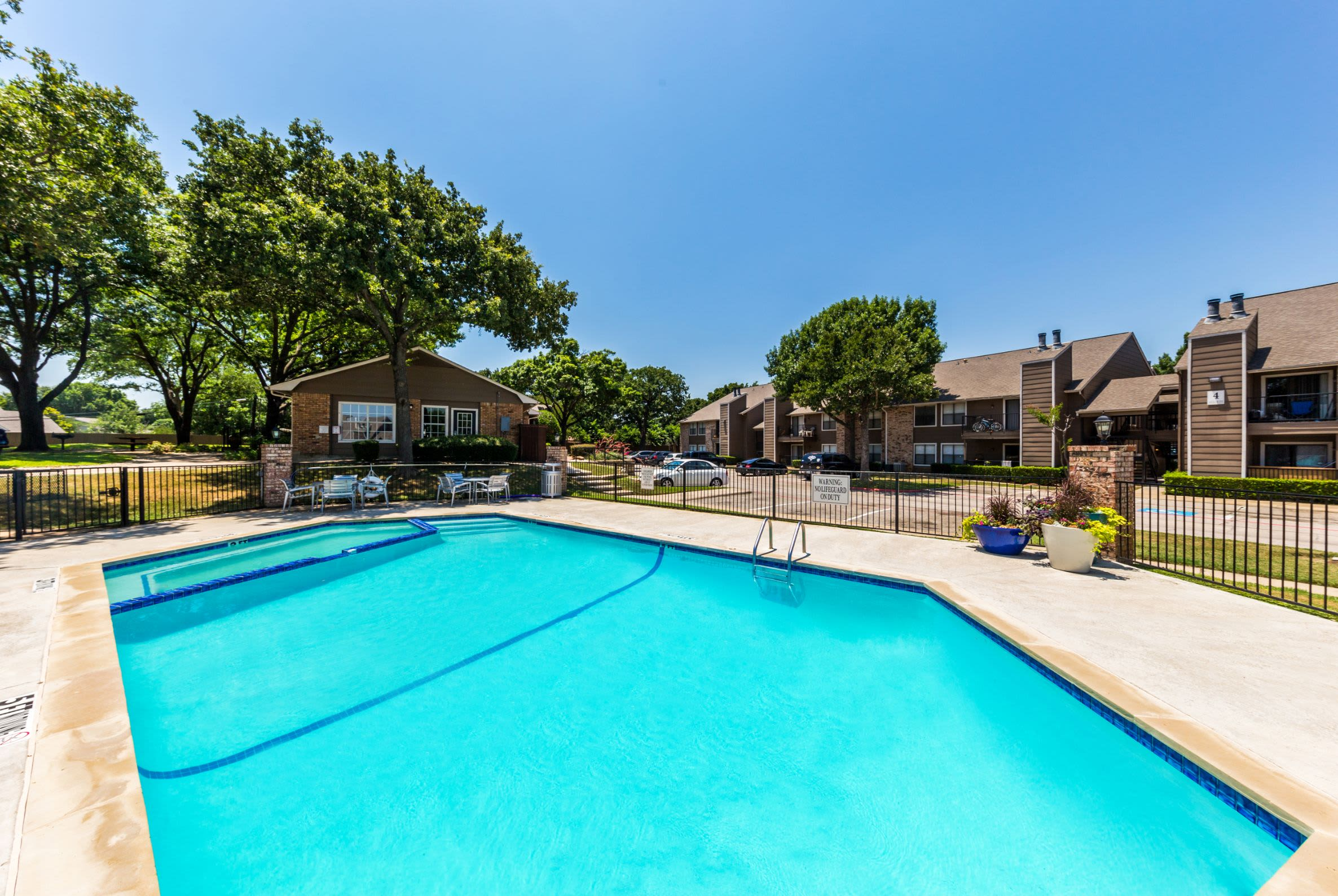 Bright pool at The Park at Flower Mound in Flower Mound, Texas