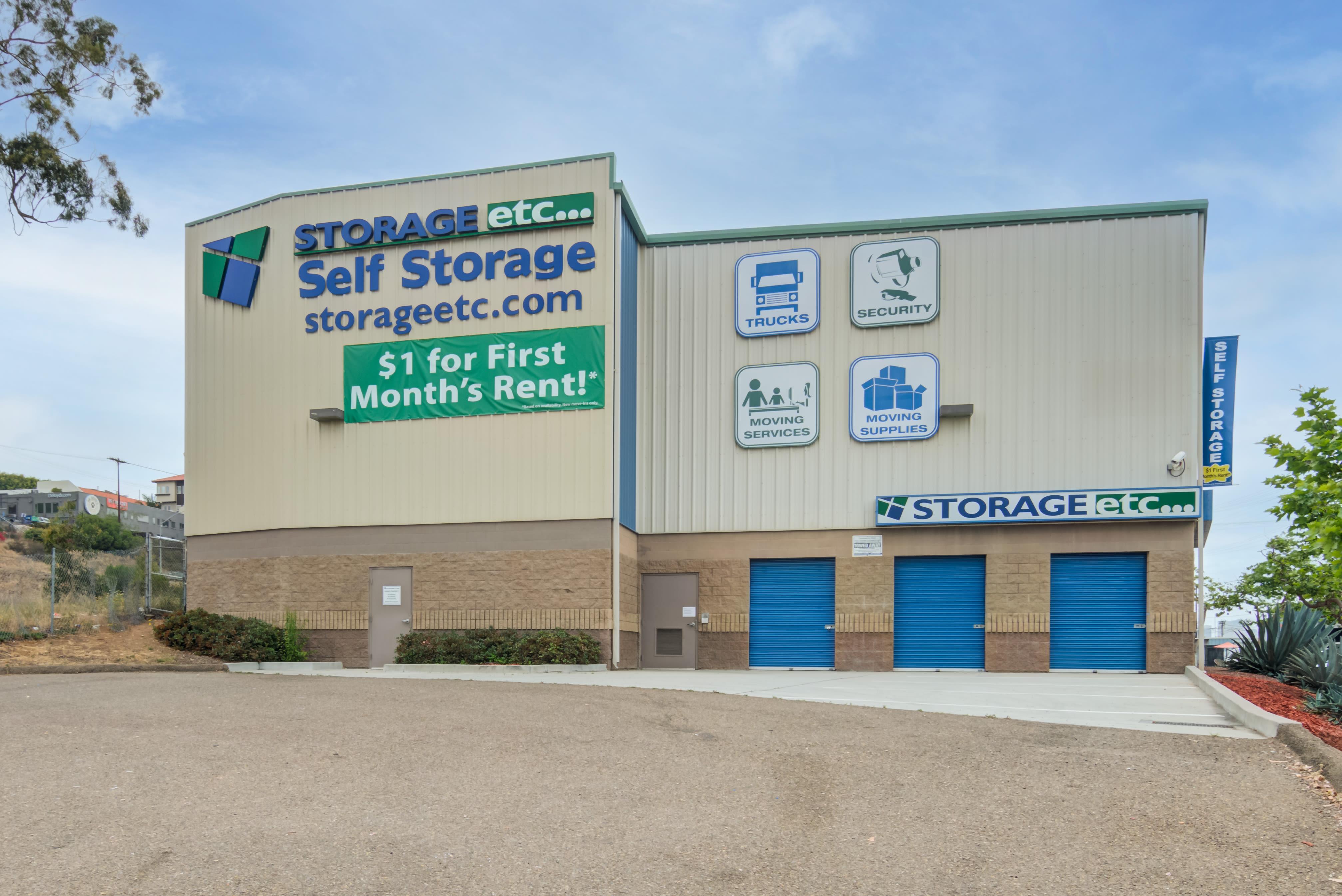 Exterior image of Storage Etc... Hancock St in San Diego,CA
