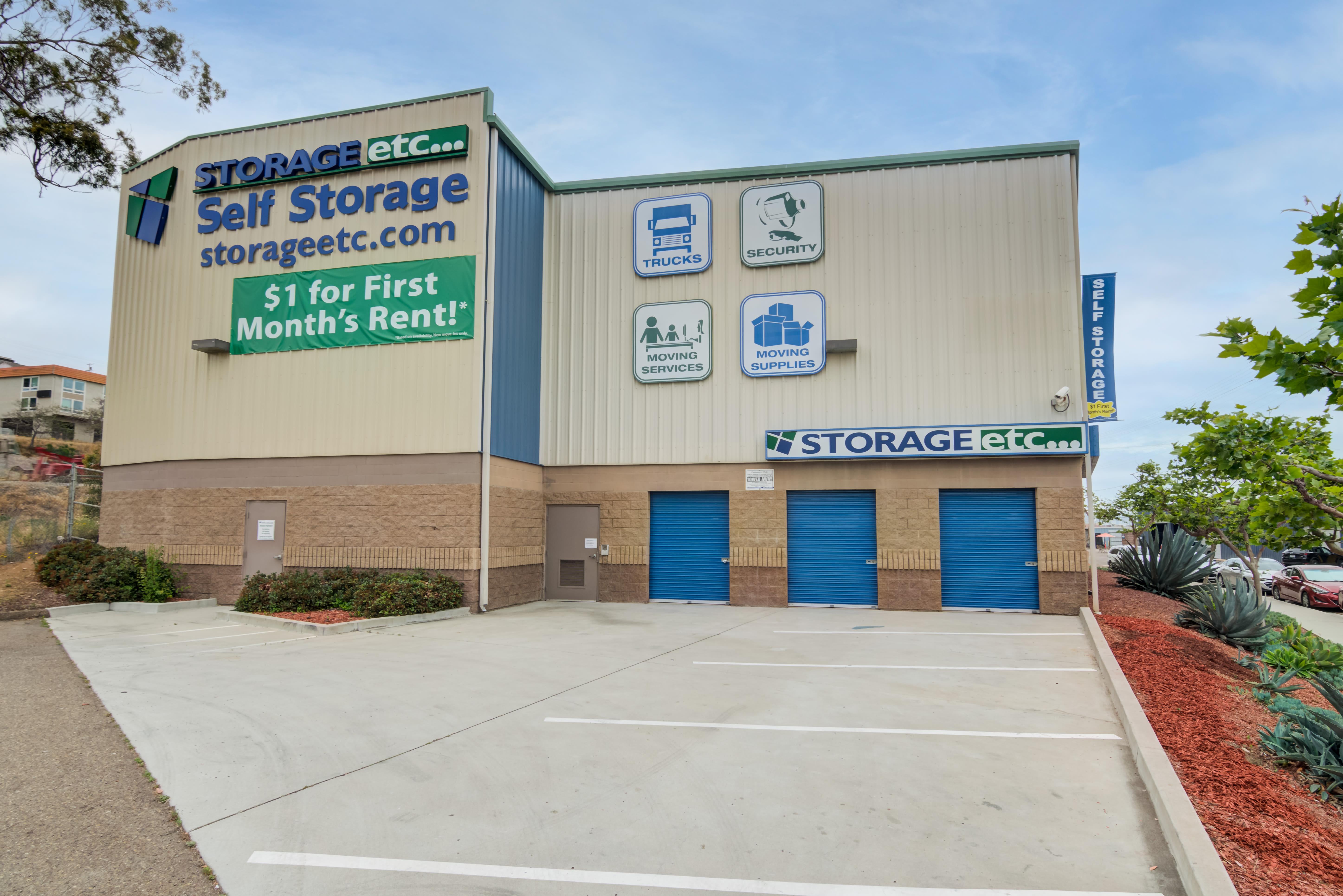 Building drive up storage of Storage Etc... Hancock St in San Diego,CA