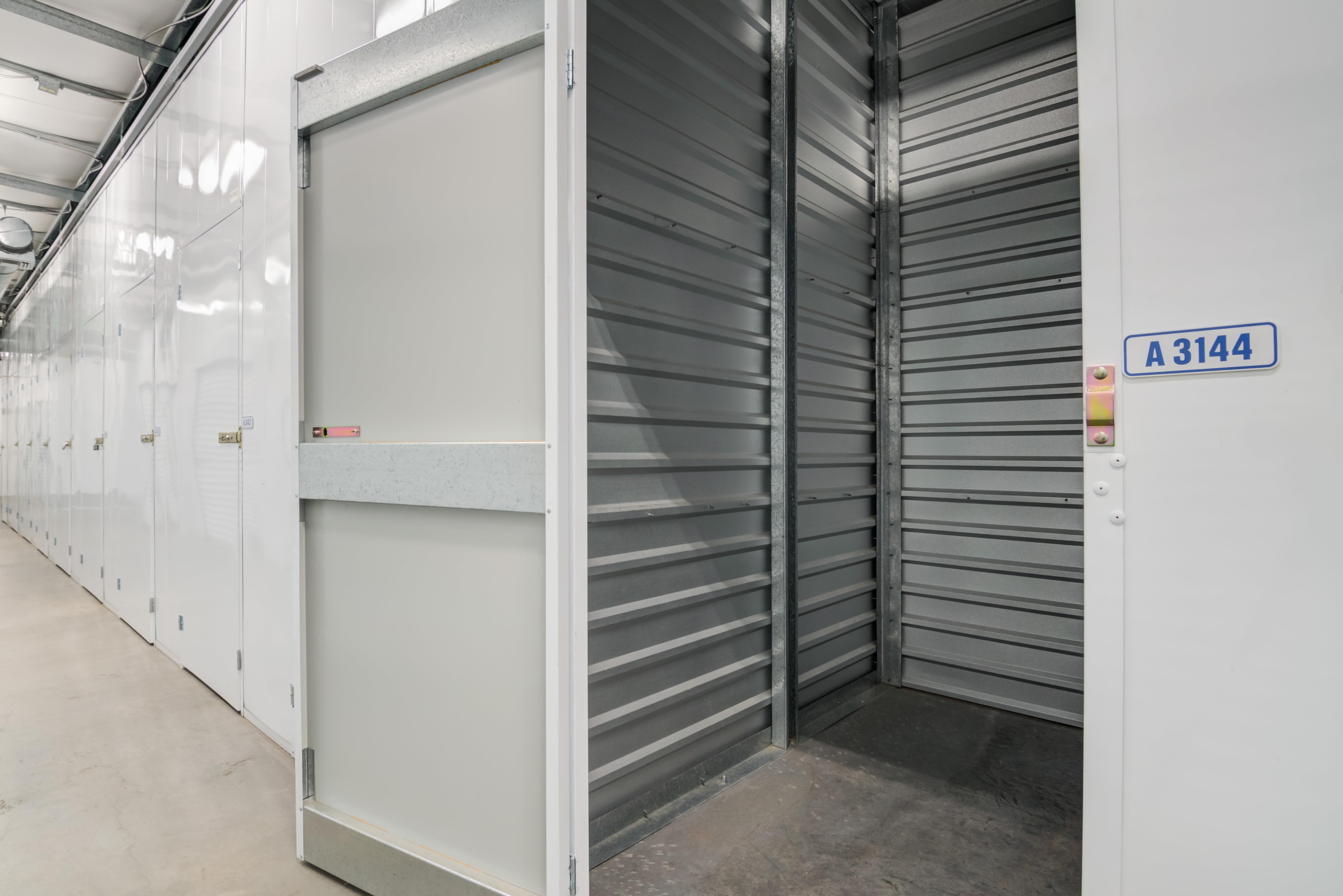 inside of indoor storage unit at Storage Etc... Hancock St in San Diego,CA