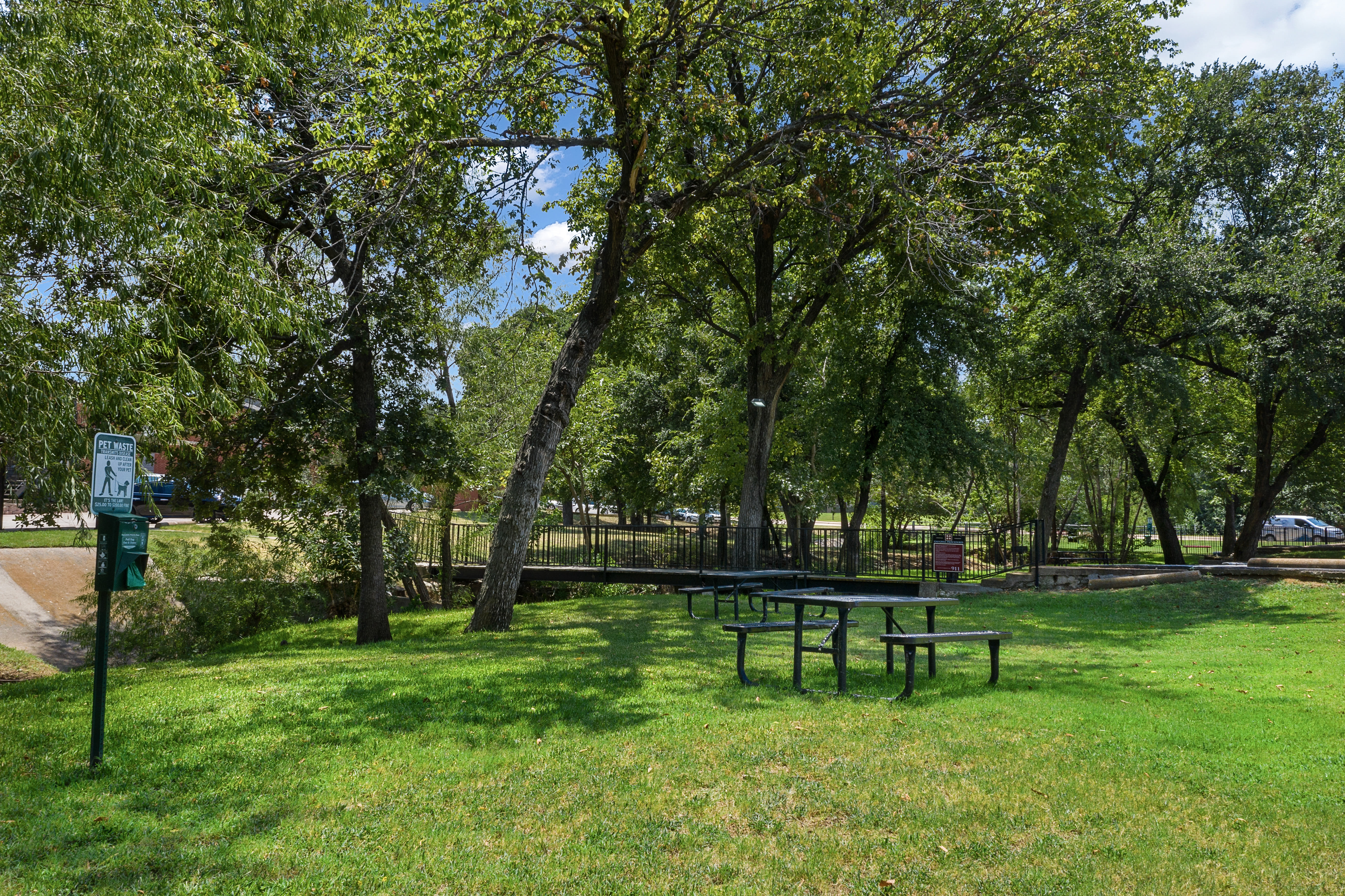 Green space at Windmill Terrace in Bedford, Texas