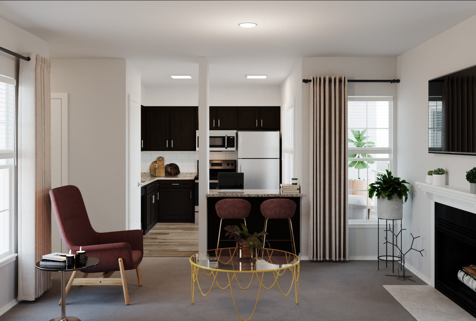 View virtual tour for 1 bedroom 1 bathroom unit at The Regent in Dallas, Texas