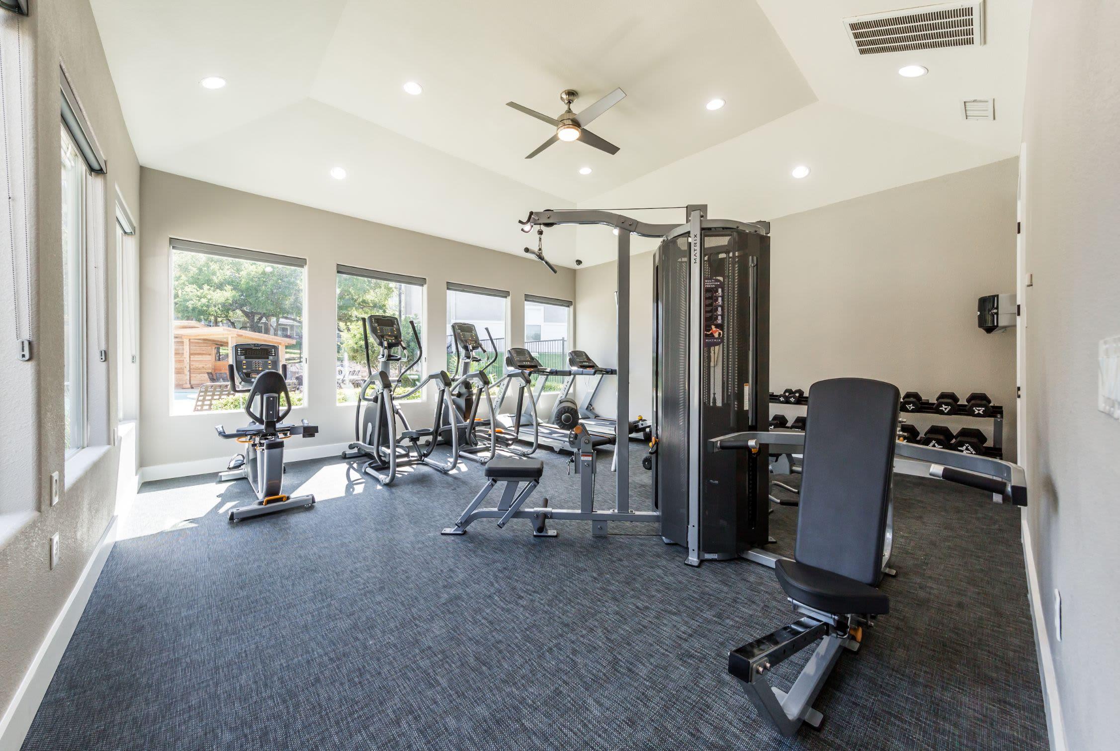 Fitness center at Marquis at Crown Ridge in San Antonio, Texas