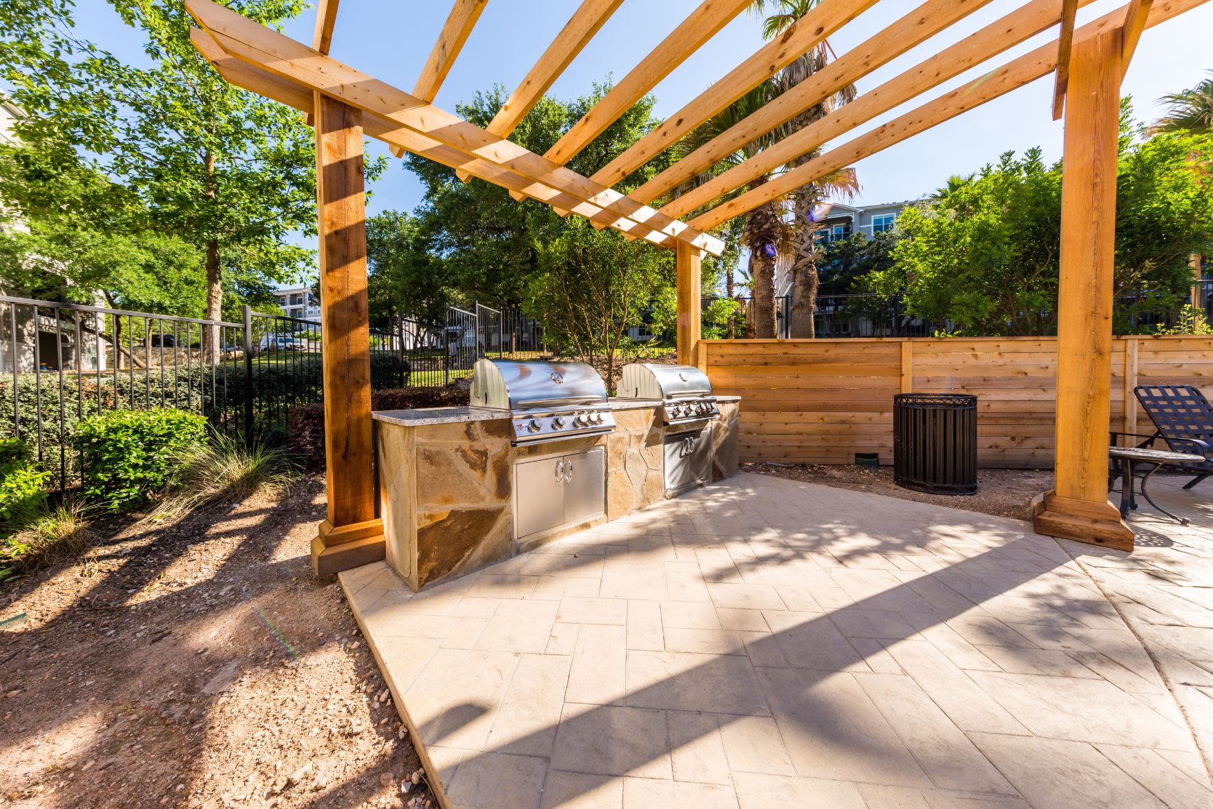 Outdoor grills for residents at Marquis at Crown Ridge in San Antonio, Texas