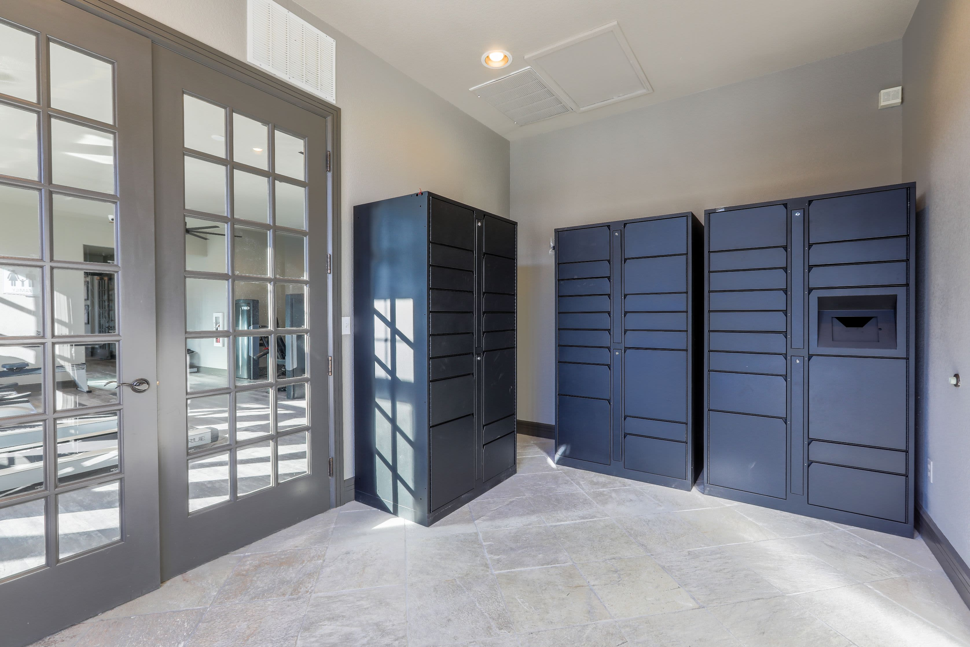 Package lockers at Marquis Castle Pines in Castle Pines, Colorado