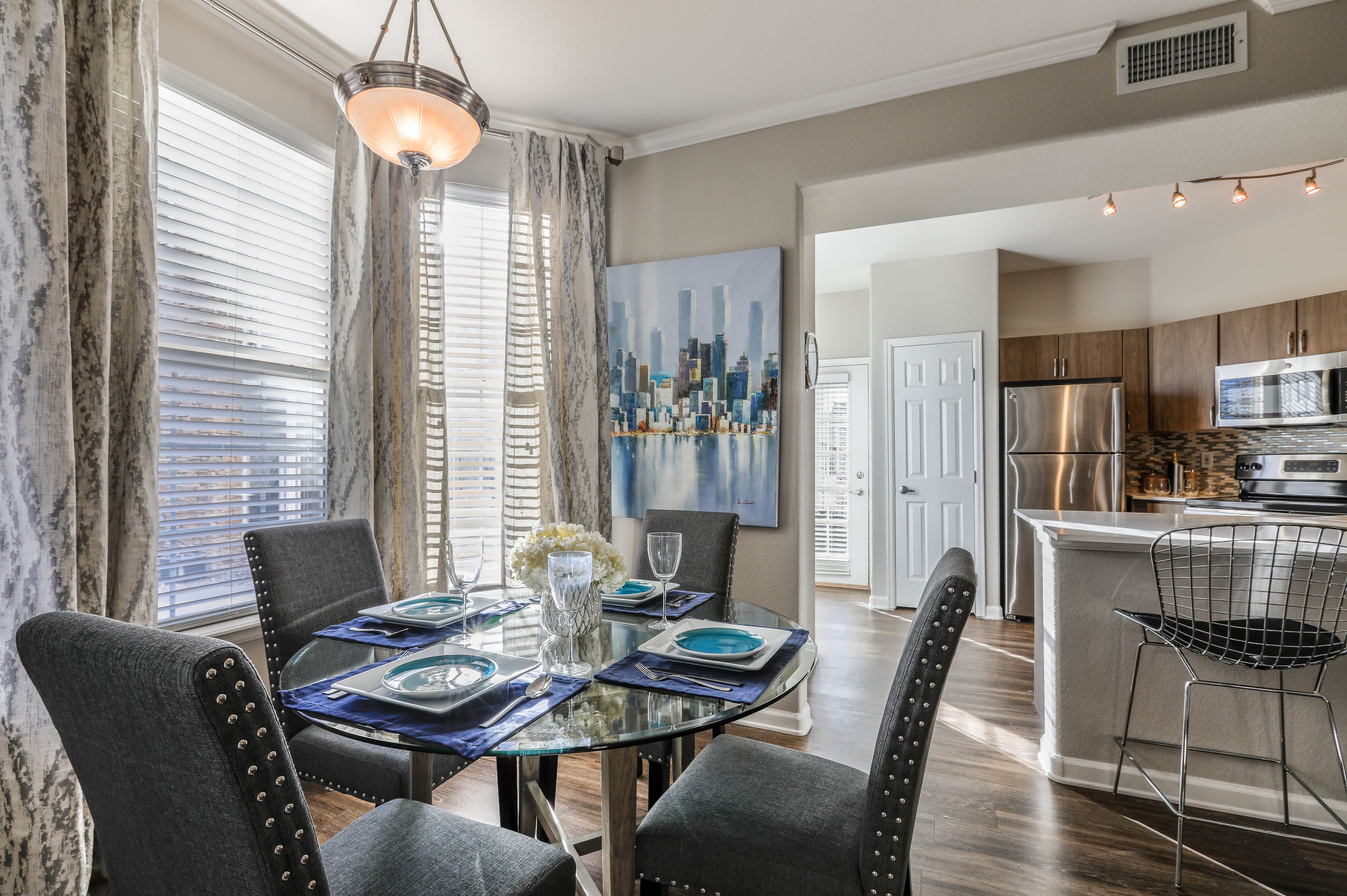 Bright and open dining space at Marquis Castle Pines in Castle Pines, Colorado