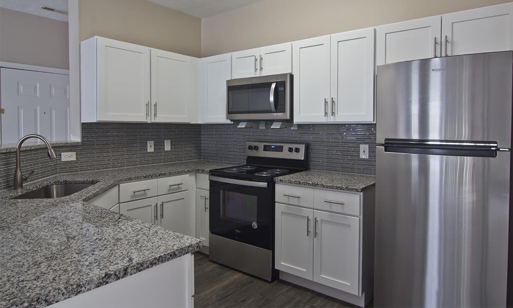 Spacious kitchen at Highlands of Montour Run in Coraopolis, Pennsylvania