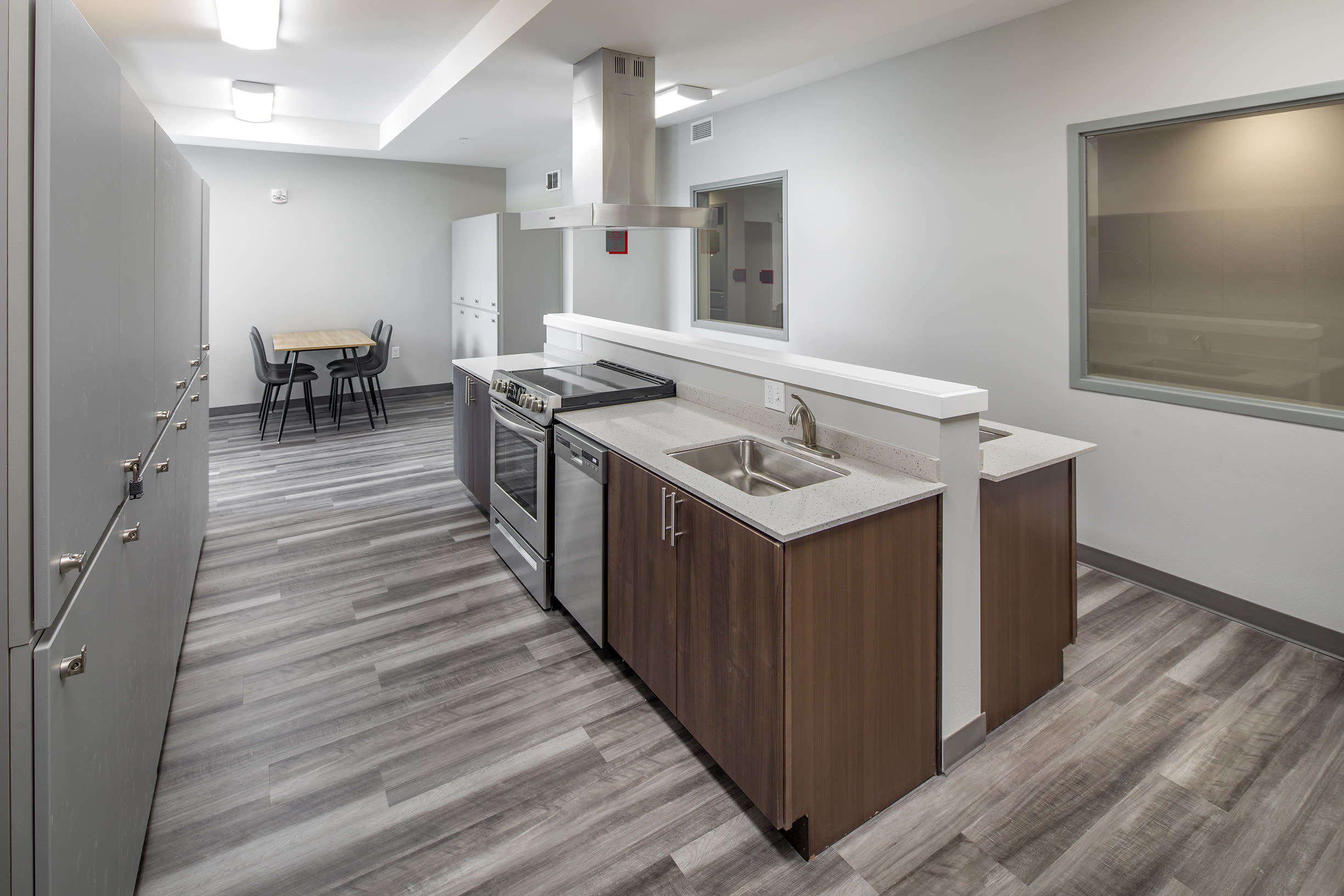 A community kitchen at Ascend in Portland, OR