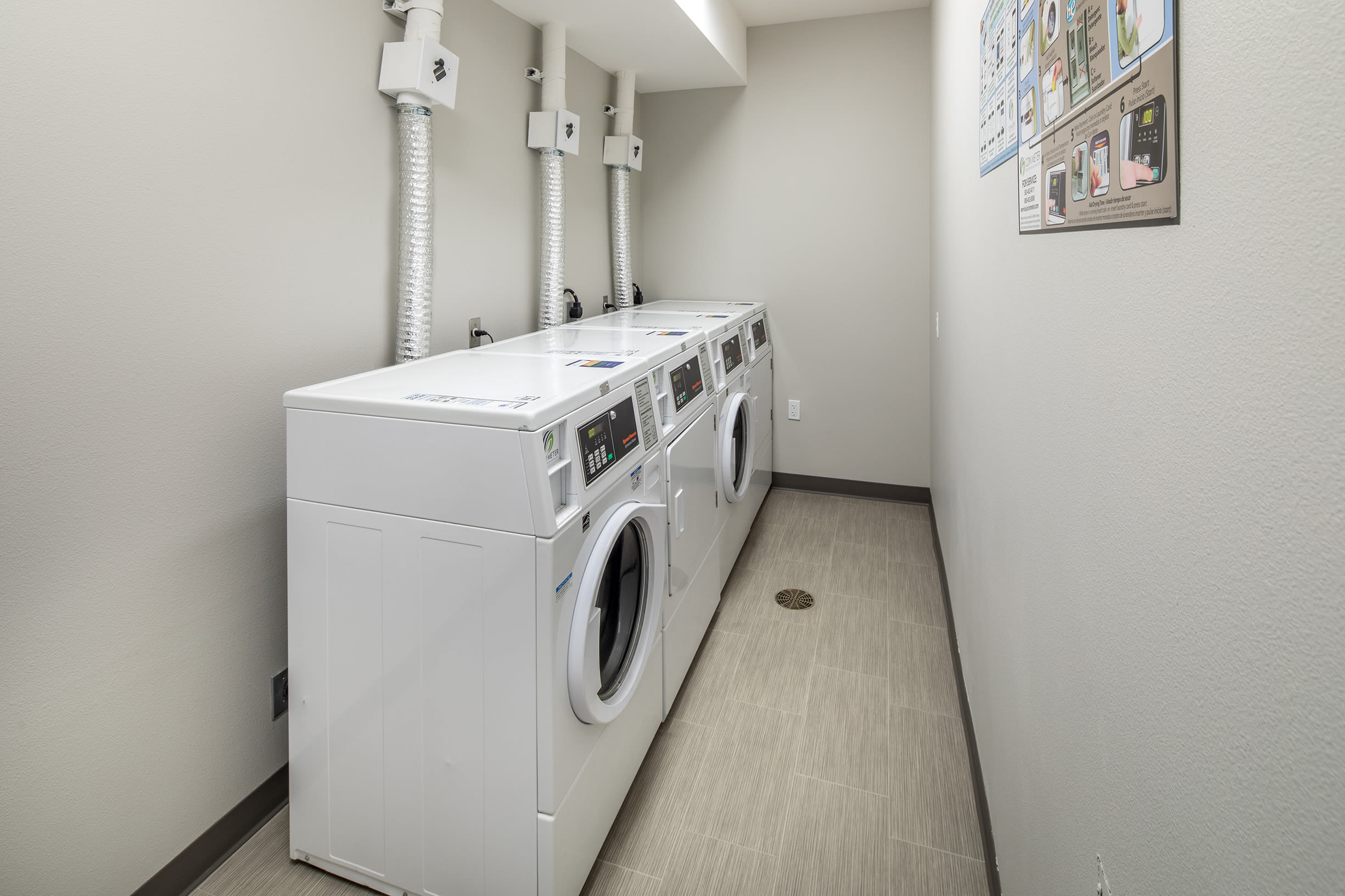 Laundry machines at Ascend in Portland, OR