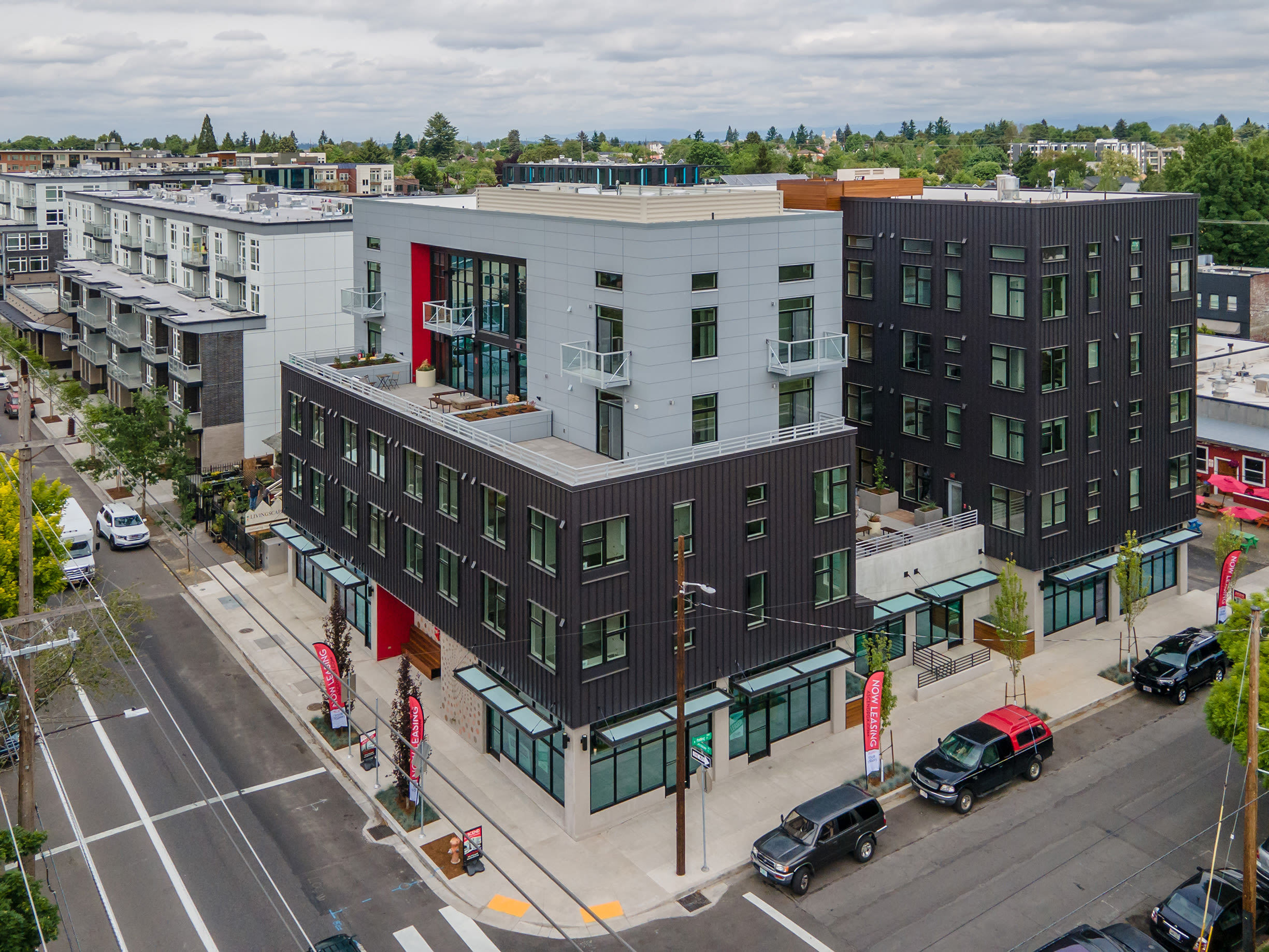 Corner view of Ascend in Portland, OR