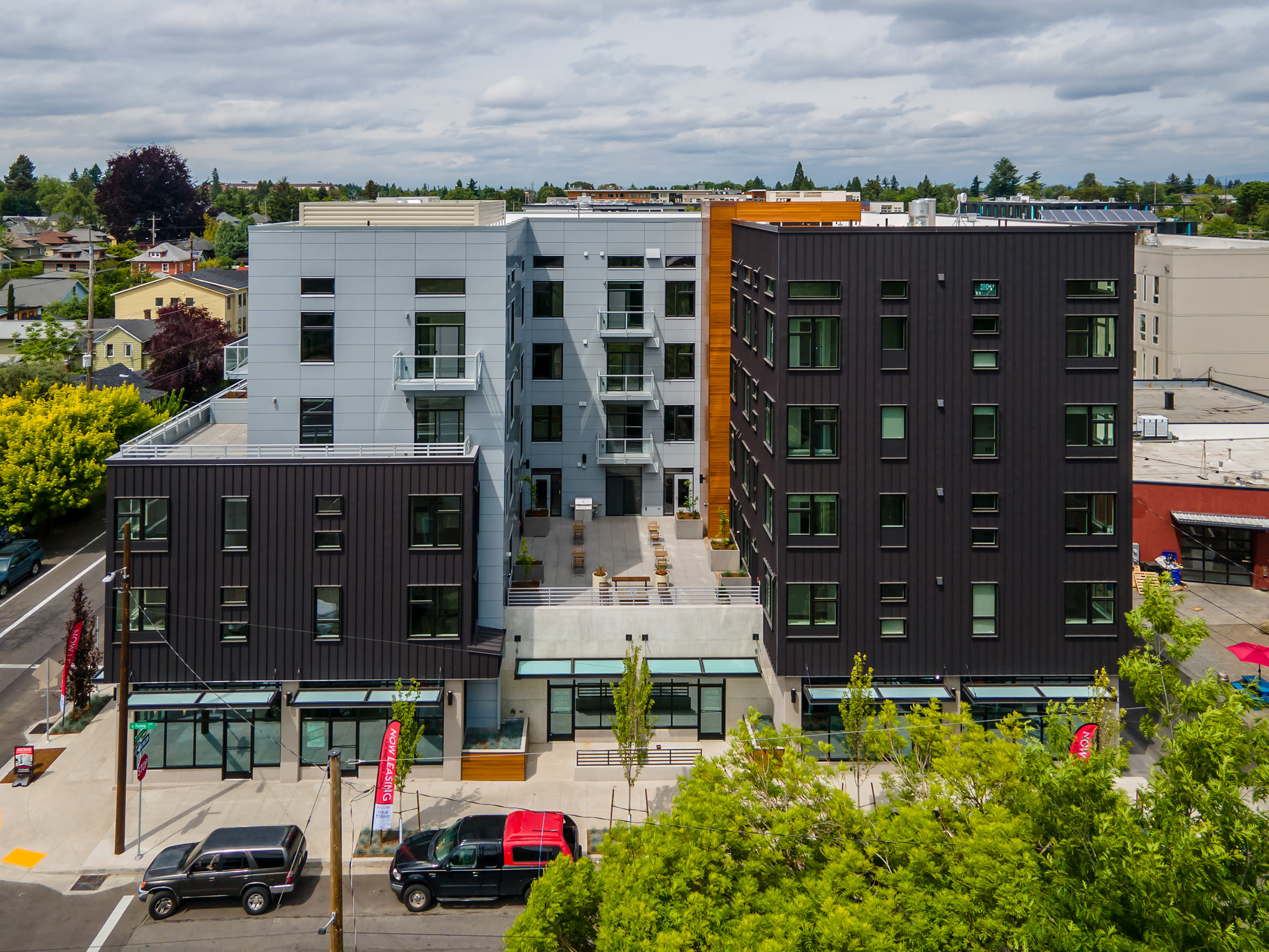 The exterior head on view of Ascend in Portland, OR