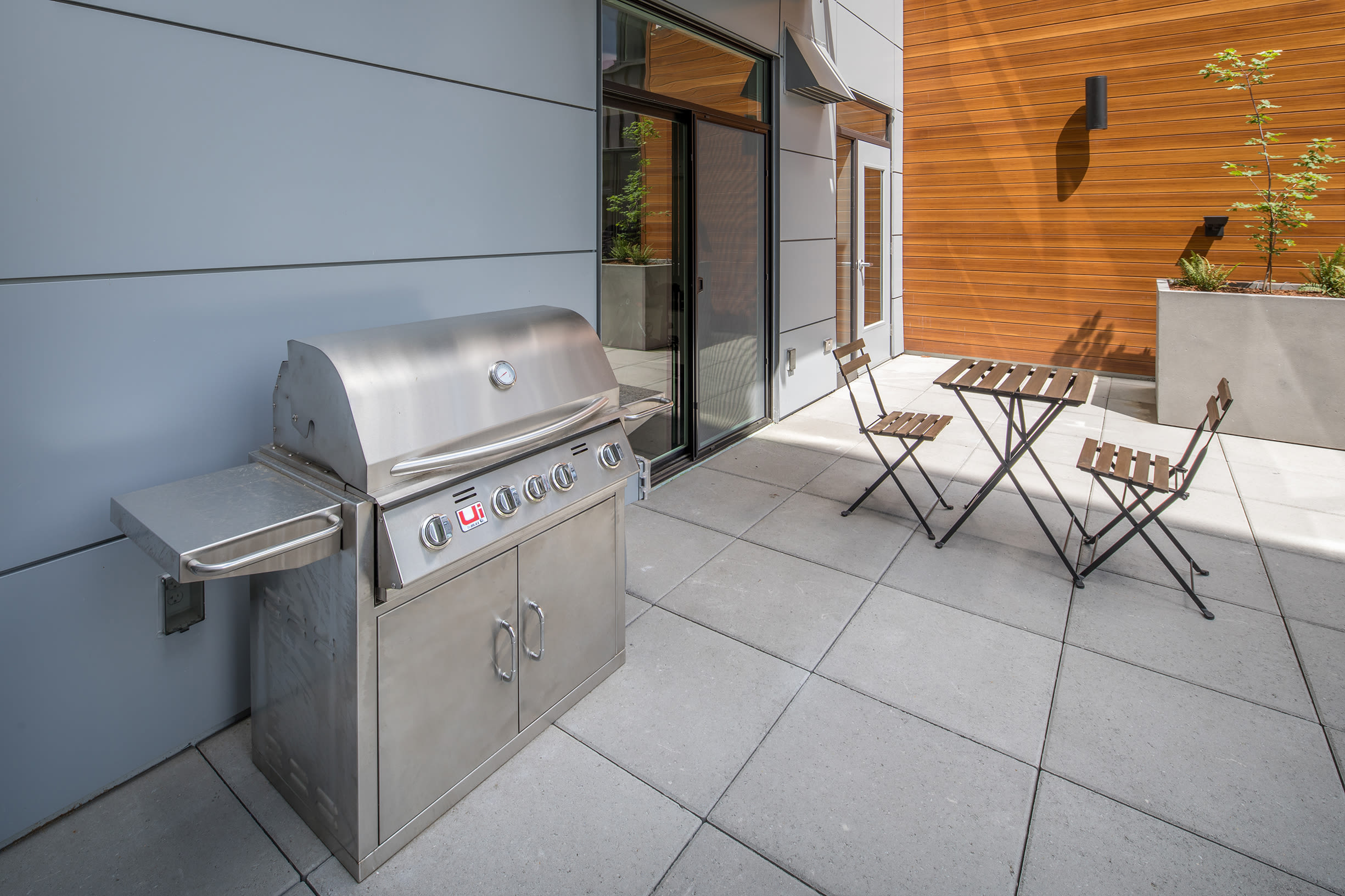 Patio grill at Ascend in Portland, OR