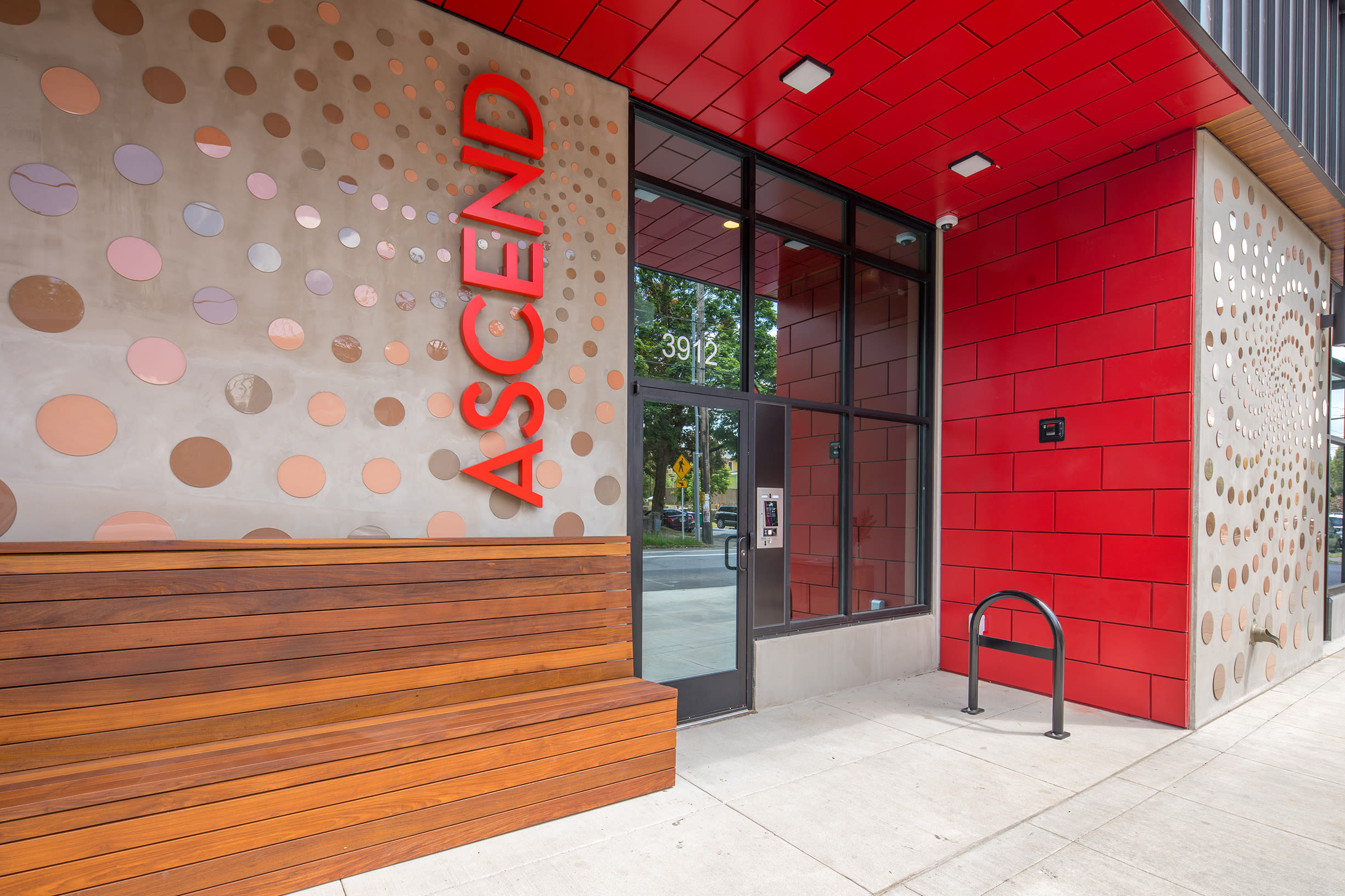 Main entrance close-up at Ascend in Portland, OR