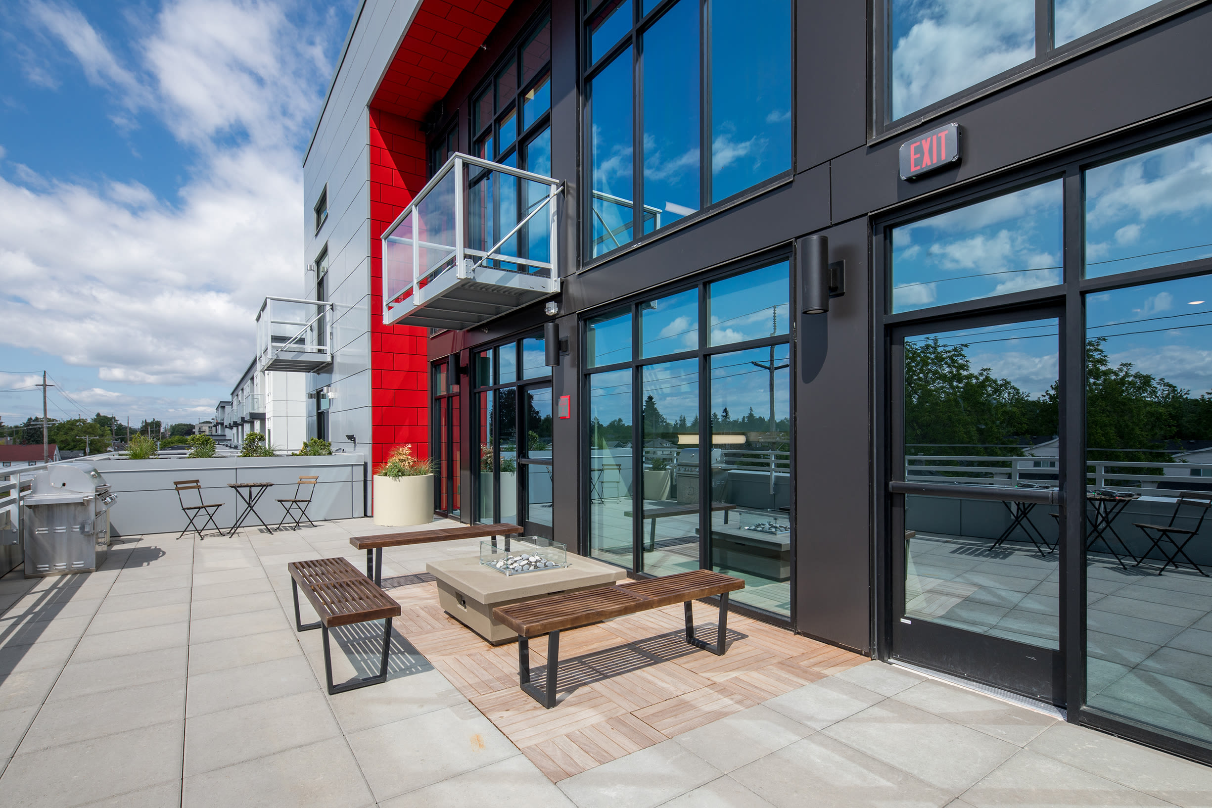 Large modern windows at Ascend in Portland, OR