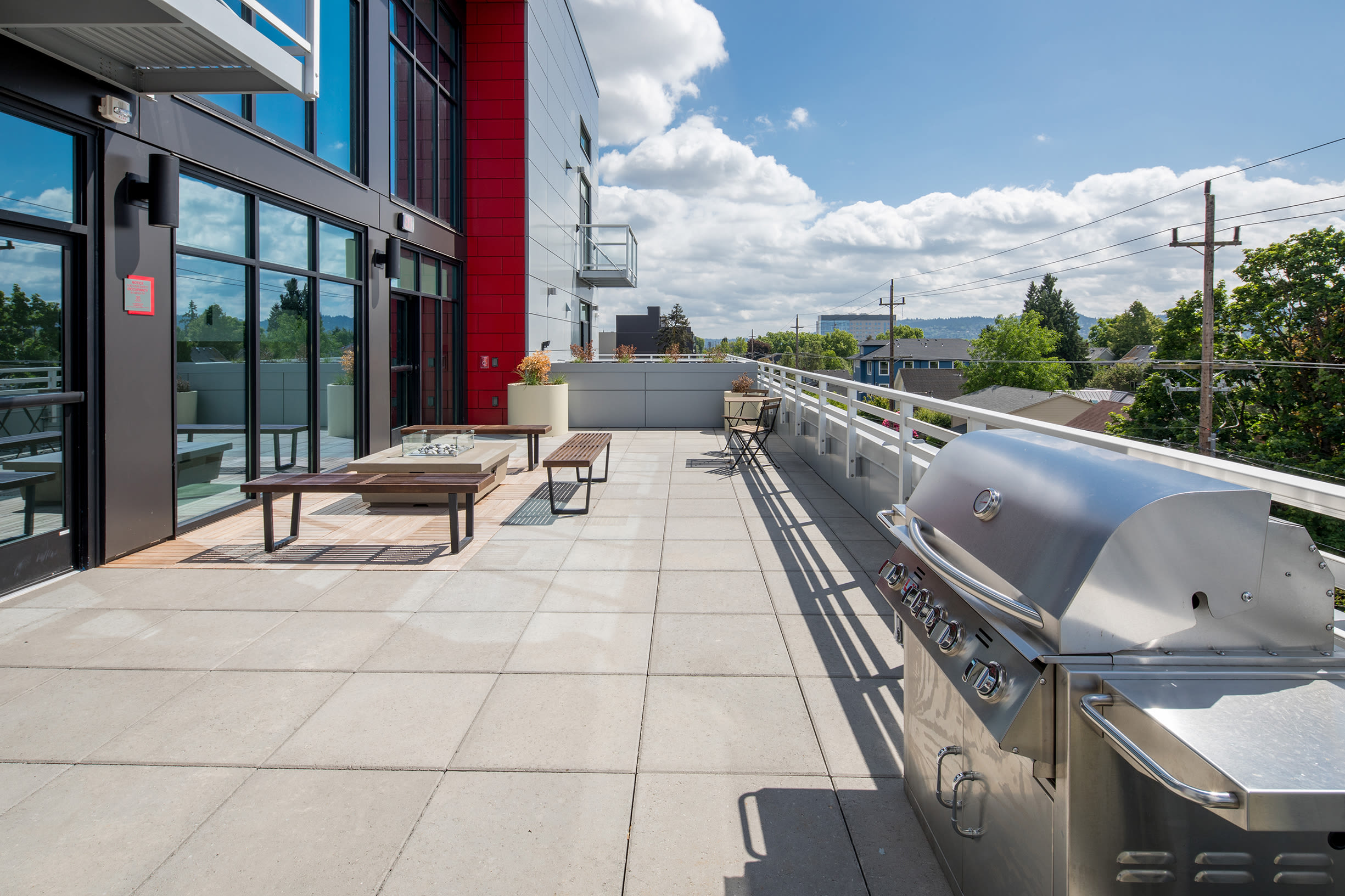 Outdoor grill at Ascend in Portland, OR