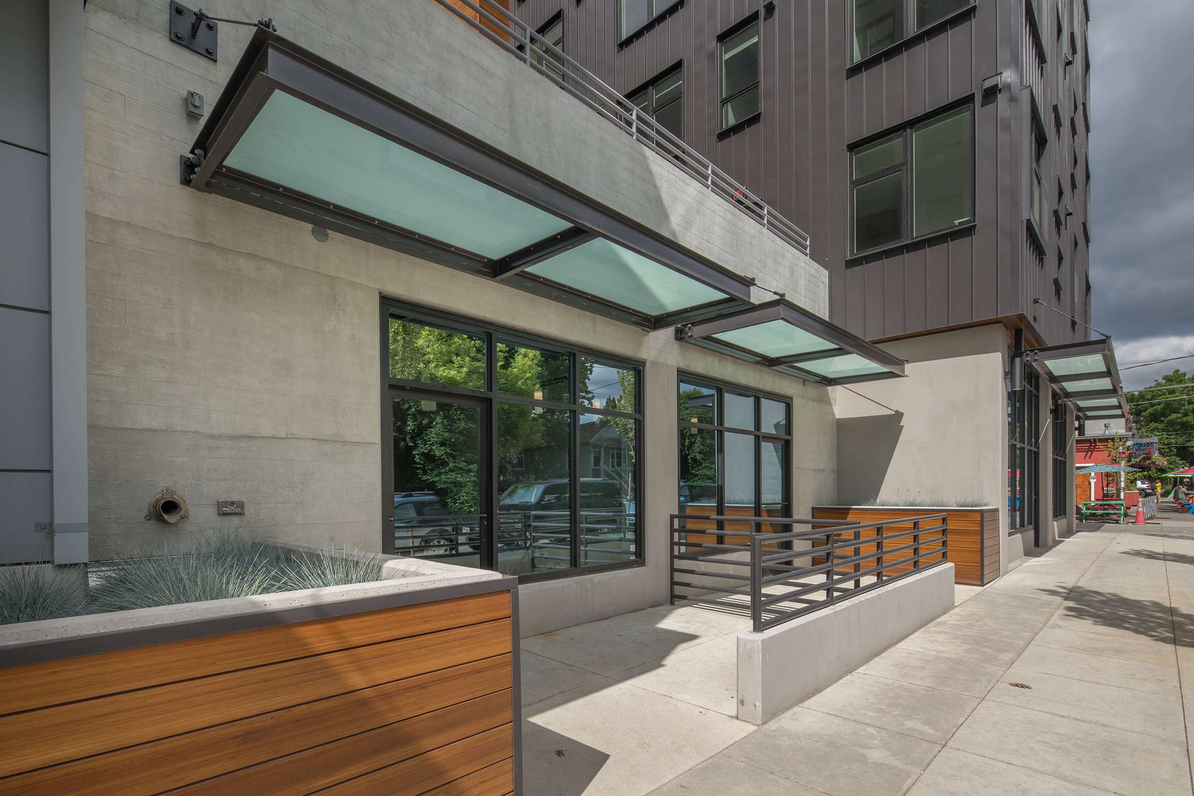 Patio entrance at Ascend in Portland, OR
