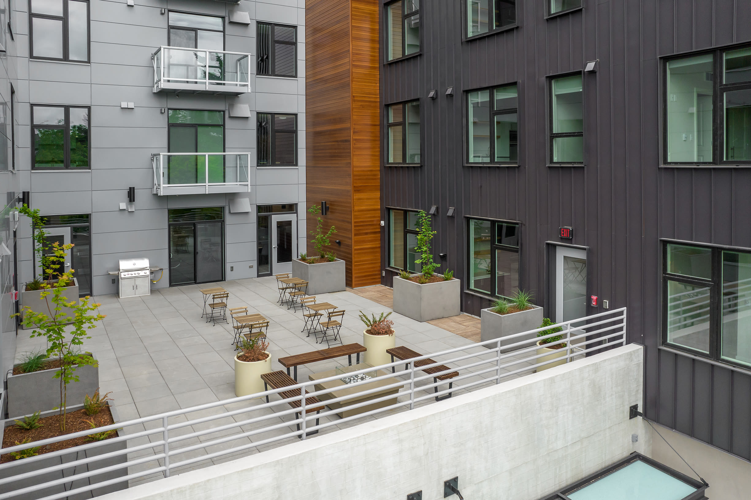 Outdoor seating at Ascend in Portland, OR