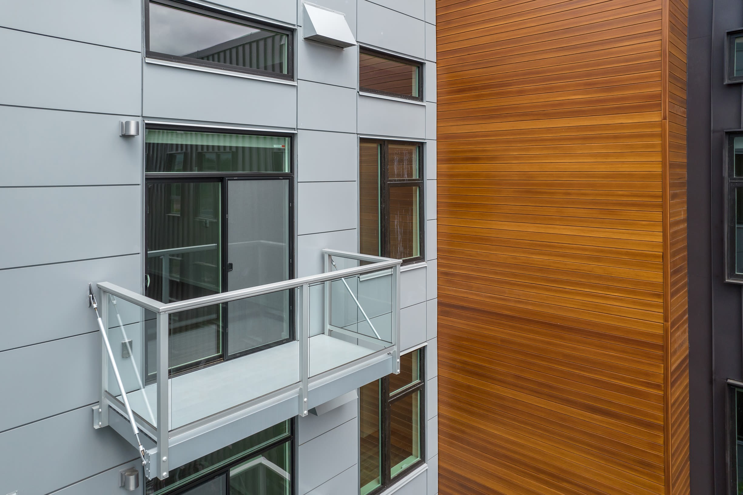 A private balcony at Ascend in Portland, OR