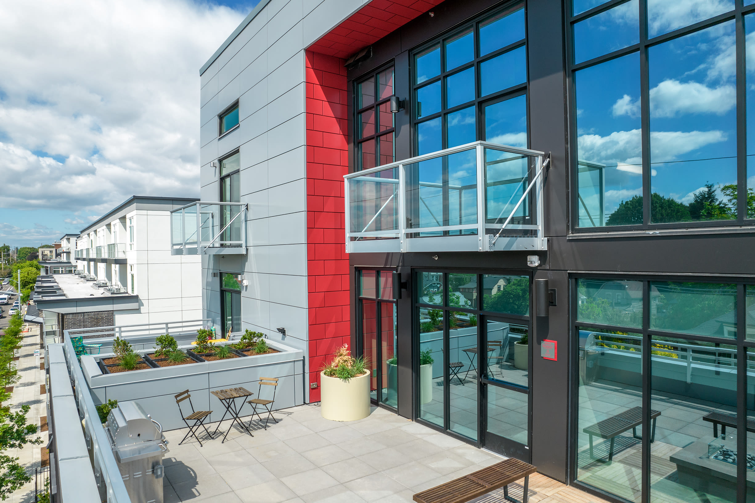 Plenty of outdoor space at Ascend in Portland, OR