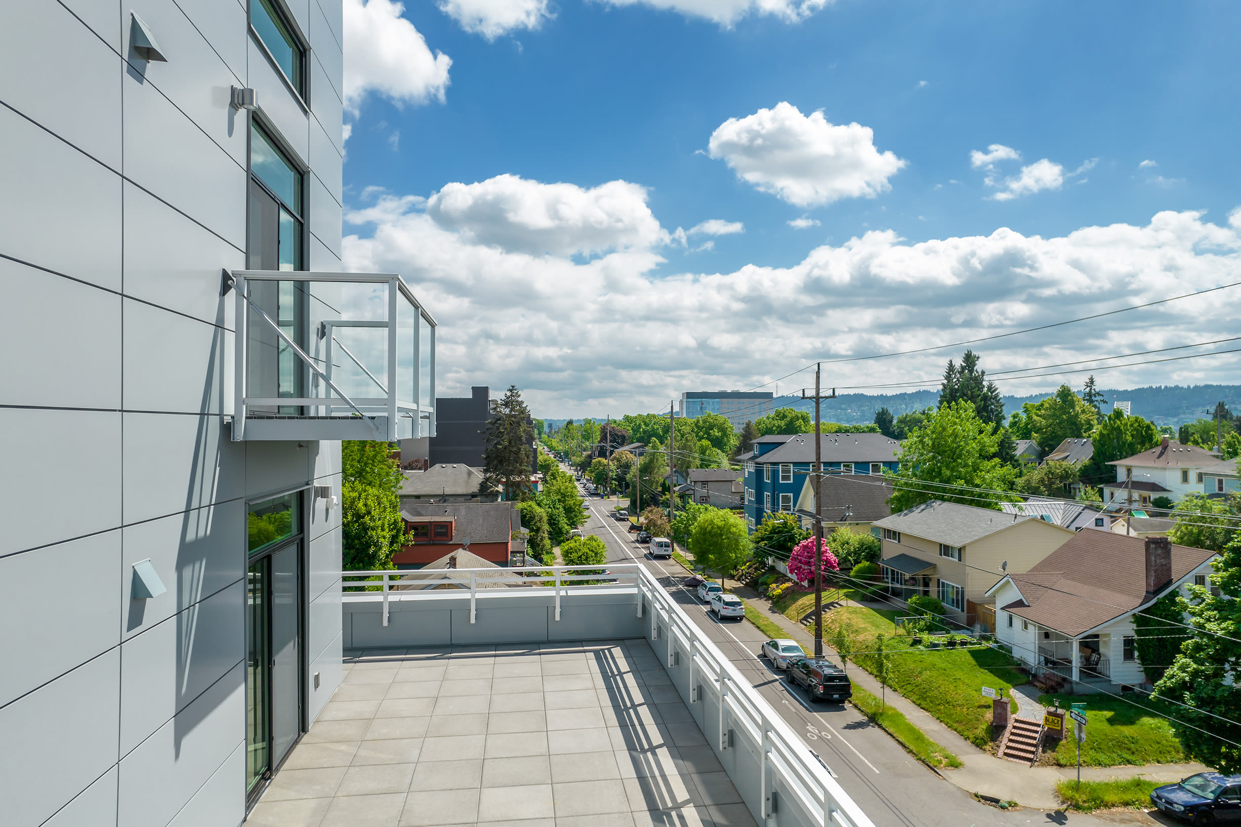 A balcony at Ascend in Portland, OR
